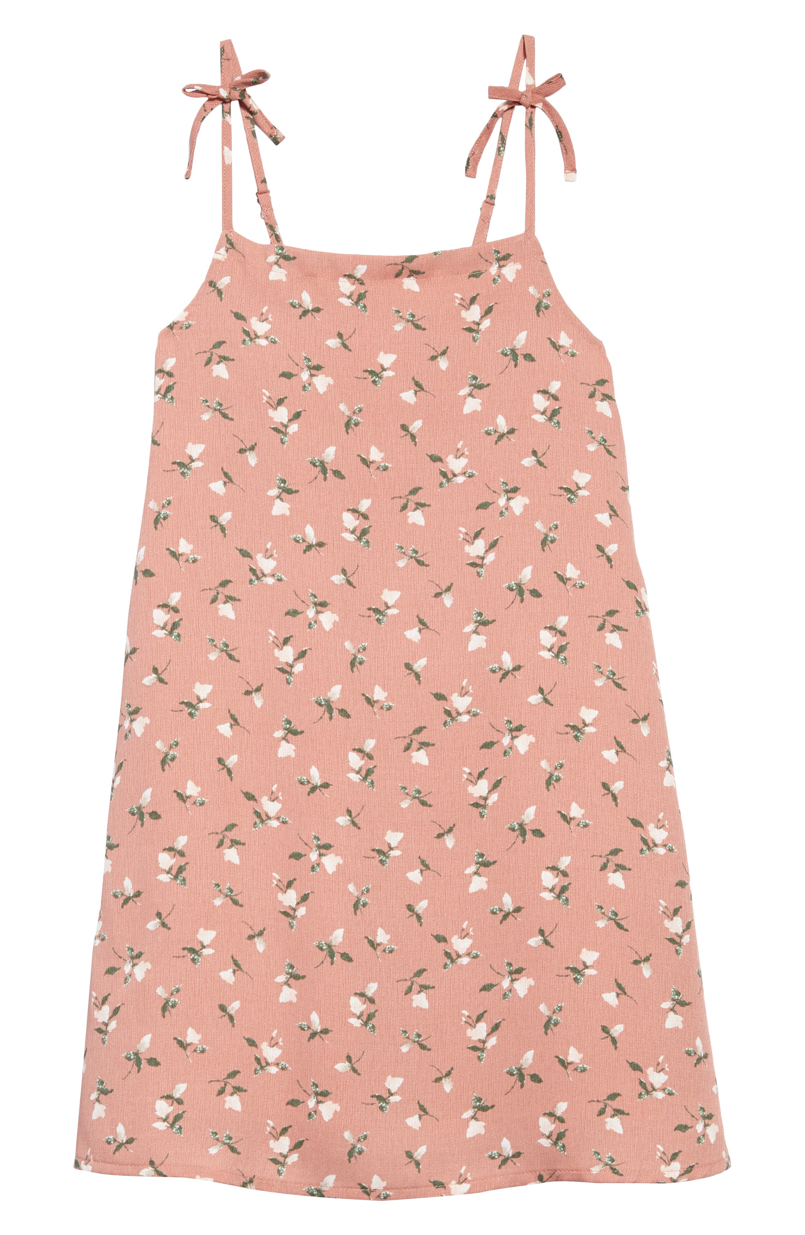 Floral Print Sundress,                             Main thumbnail 1, color,                             Pink