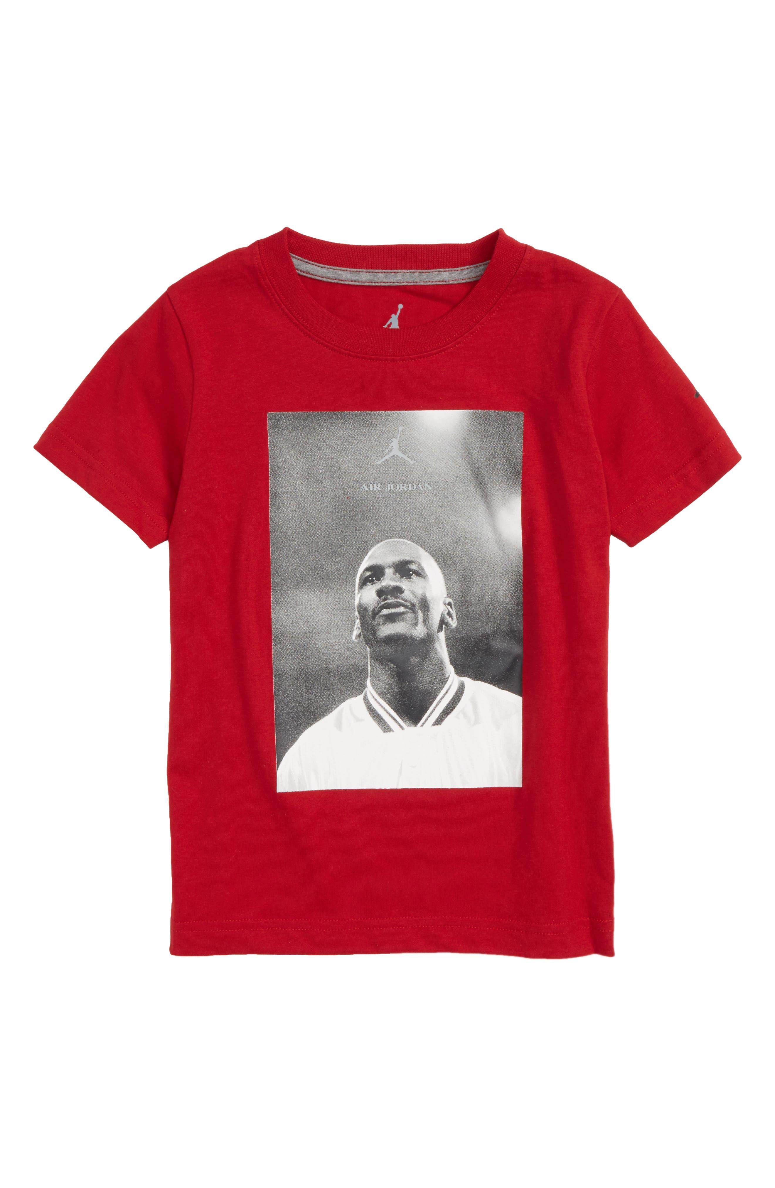 Jordan Wings FLC 3 Screenprint T-Shirt,                         Main,                         color, Gym Red