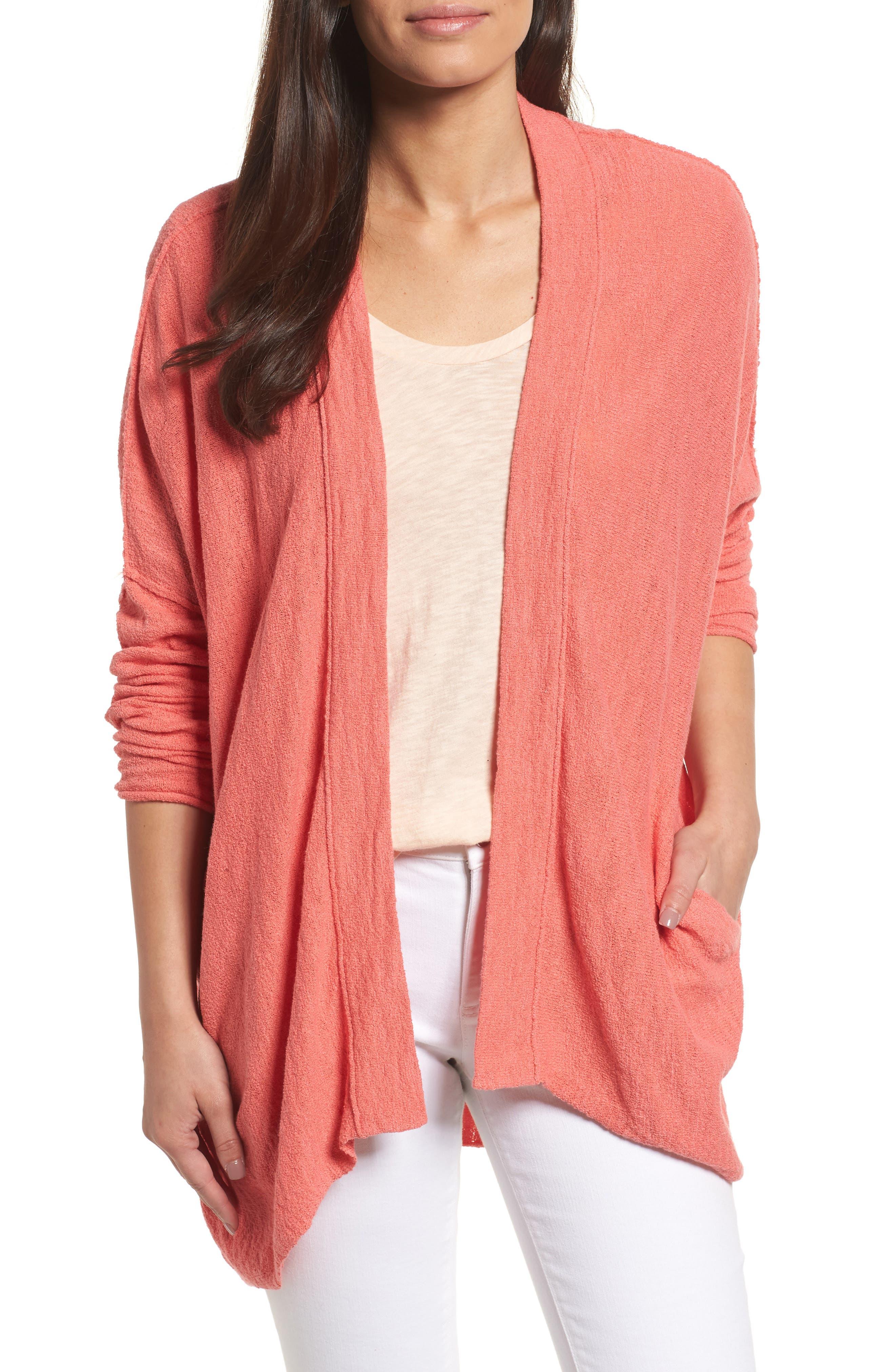 Caslon® Drop Shoulder Cardigan (Regular & Petite)