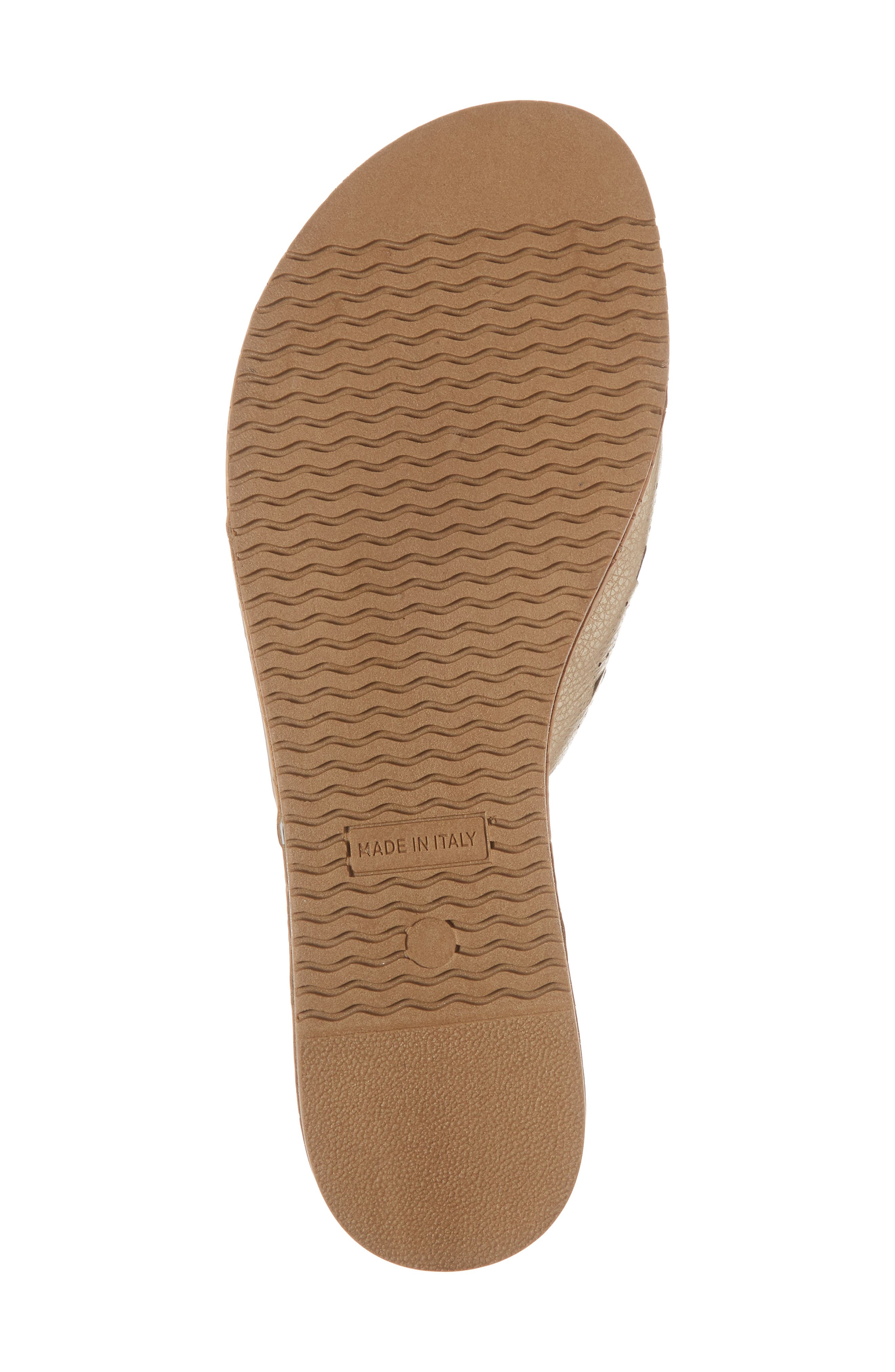 Selina Slide Sandal,                             Alternate thumbnail 6, color,                             Platino Leather