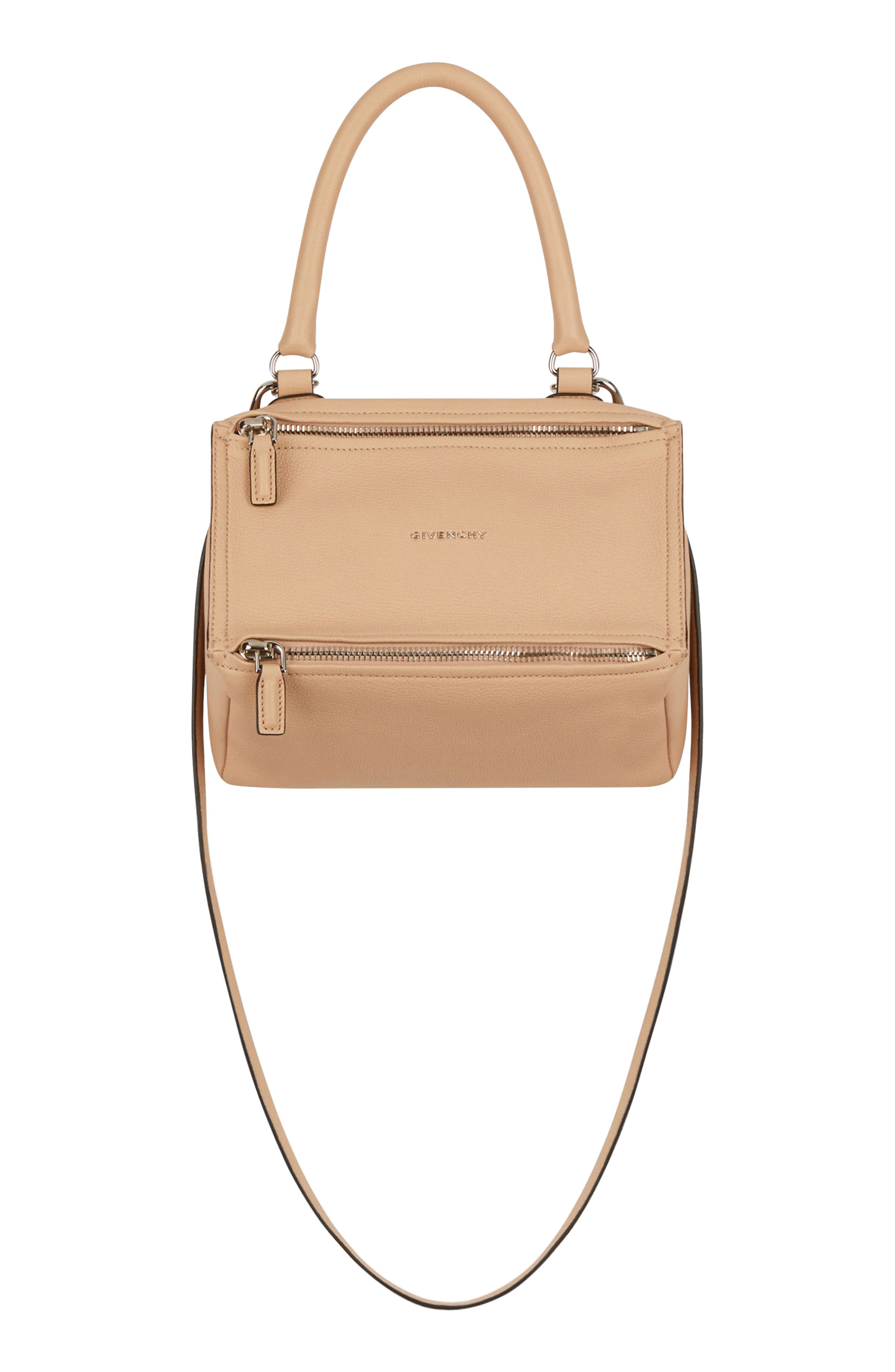 'SMALL PANDORA' LEATHER SATCHEL - BEIGE