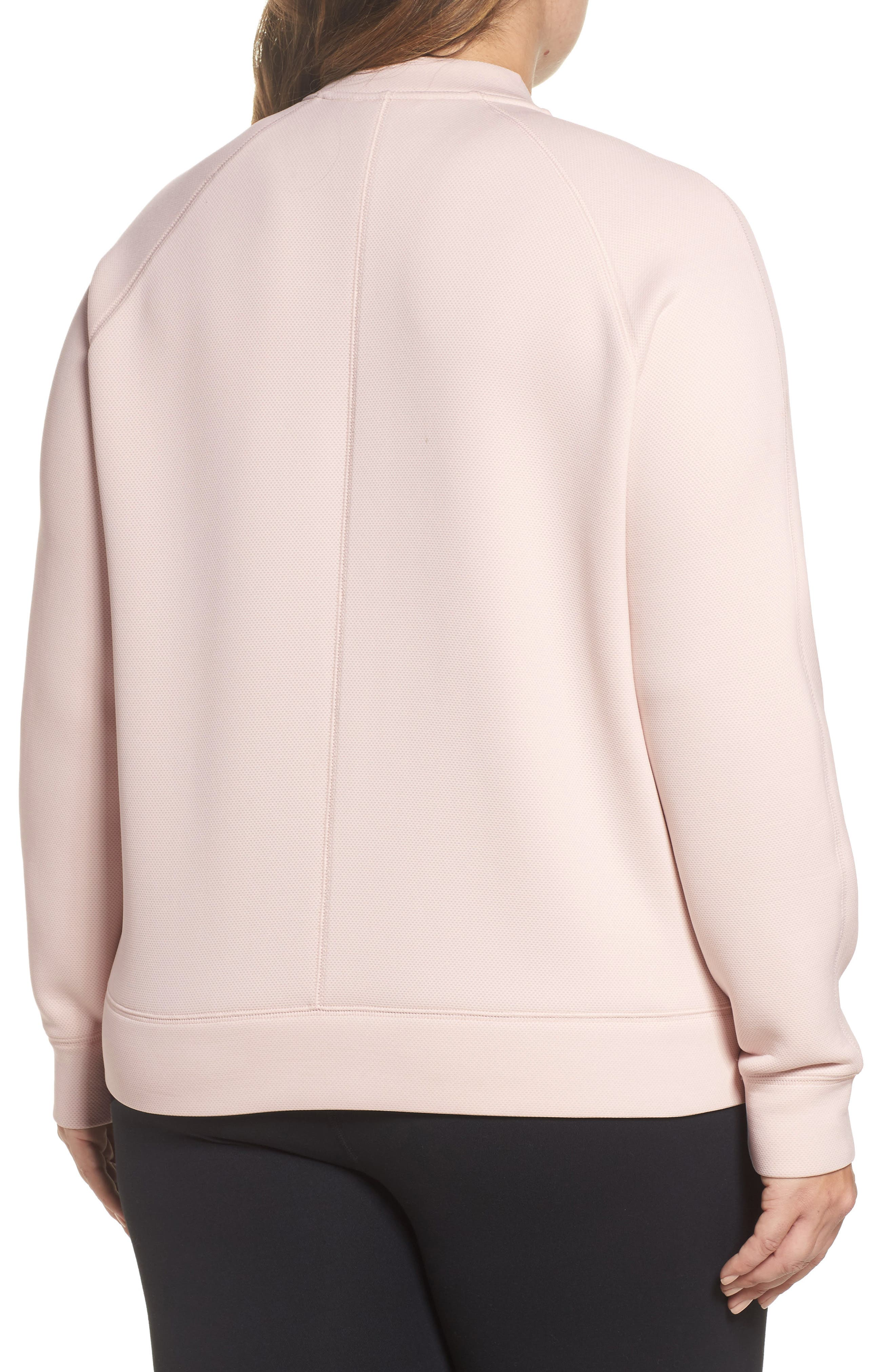 Arise Luxe Bomber Jacket,                             Alternate thumbnail 2, color,                             Pink Morganite