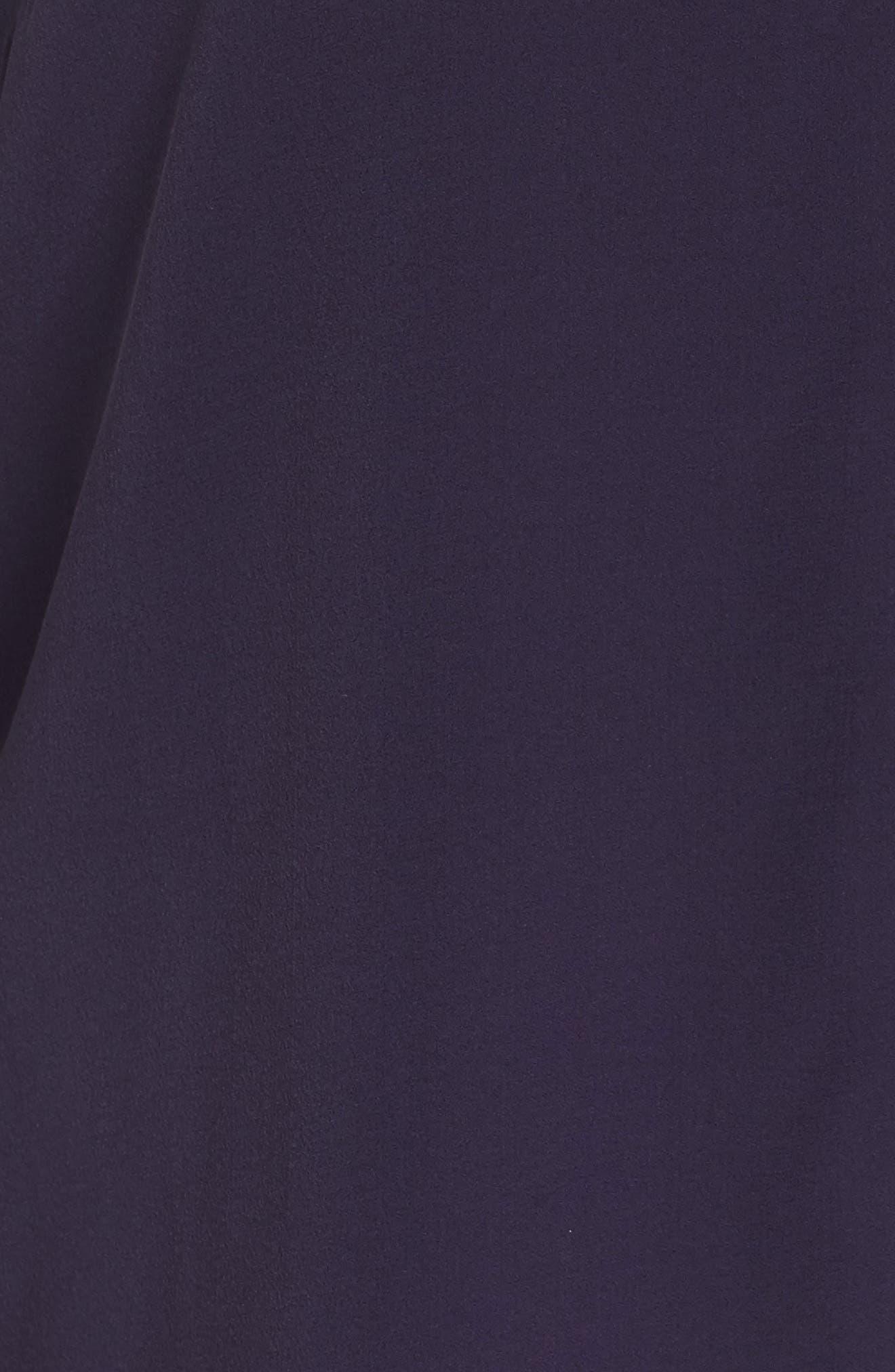 Piping V-Neck Silk Shirt,                             Alternate thumbnail 5, color,                             Salt Lake