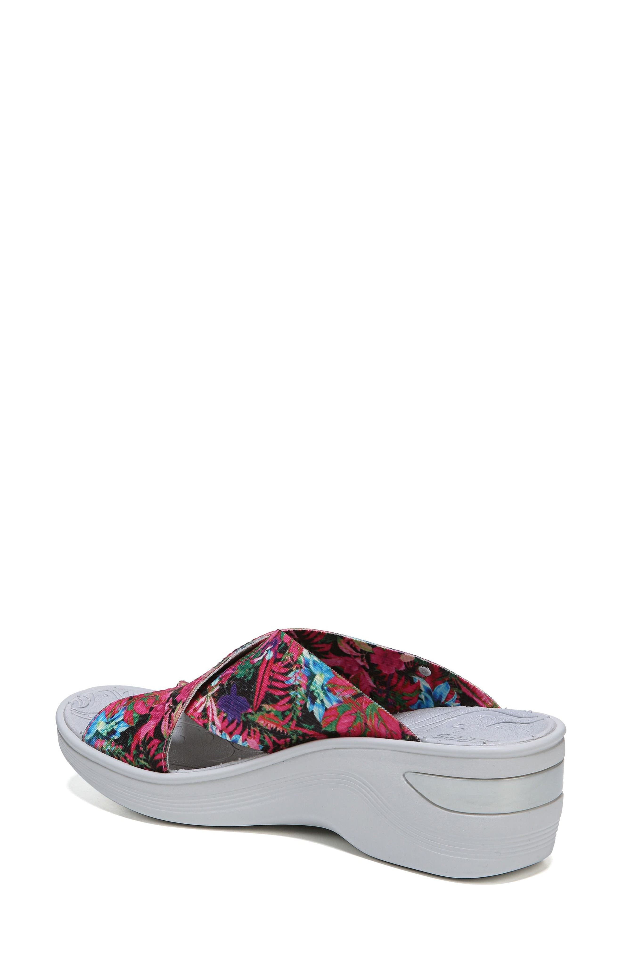 'Desire' Wedge Sandal,                             Alternate thumbnail 2, color,                             Pink Floral Fabric