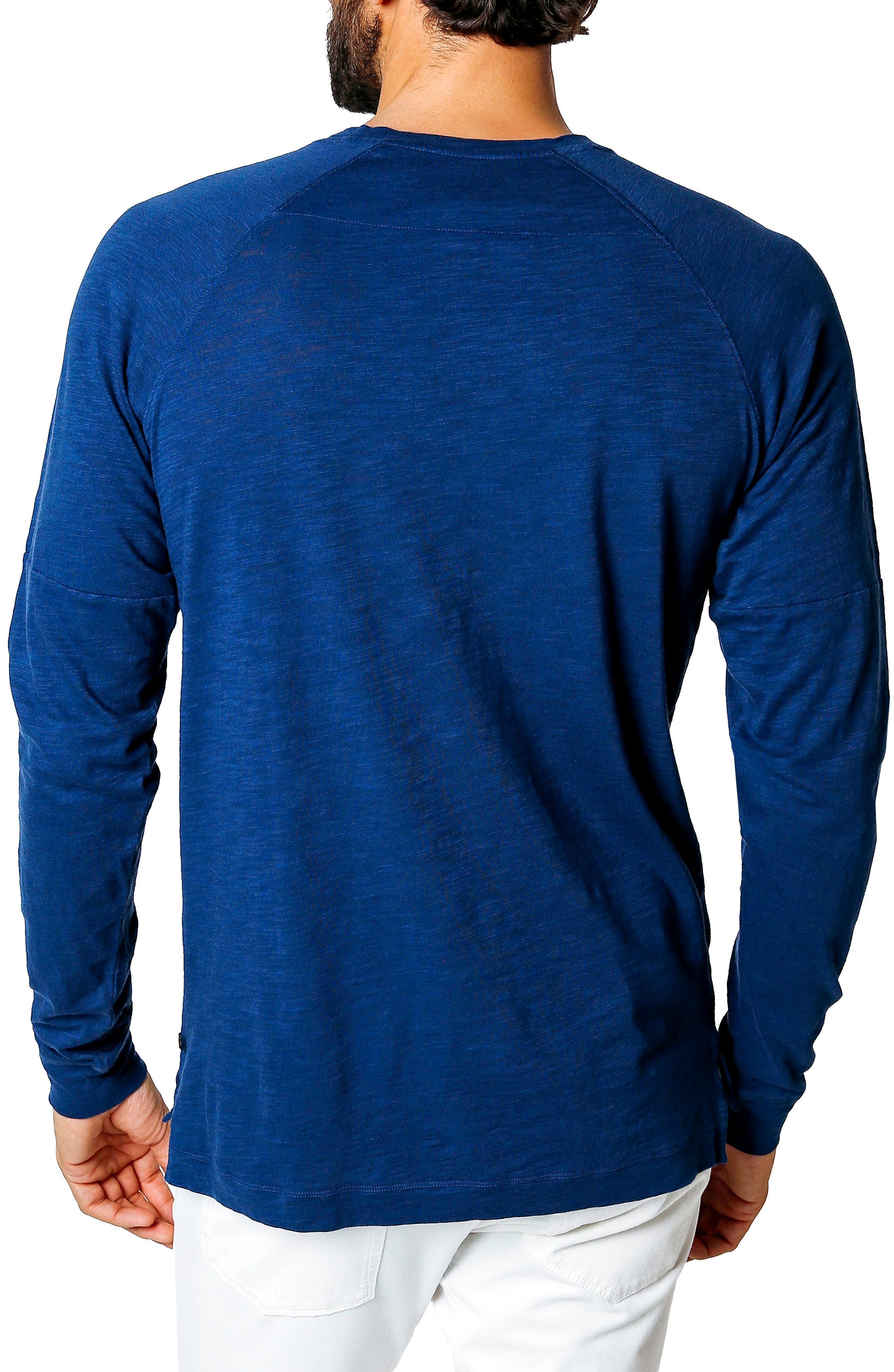 Athletic Slim Fit Henley,                             Alternate thumbnail 2, color,                             Blue