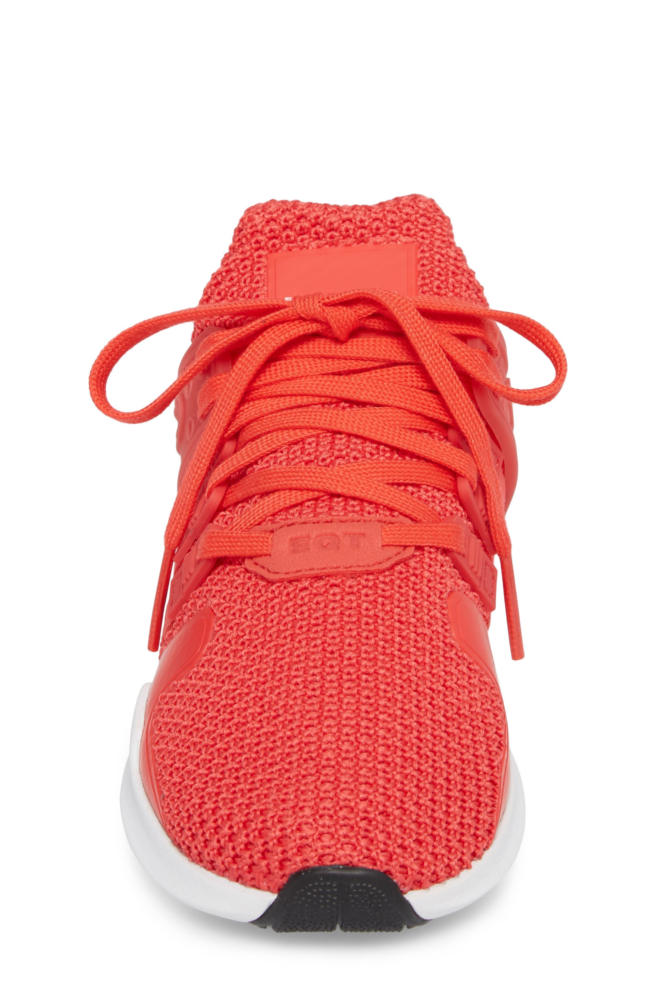 EQT Support Adv Sneaker,                             Alternate thumbnail 4, color,                             Coral White