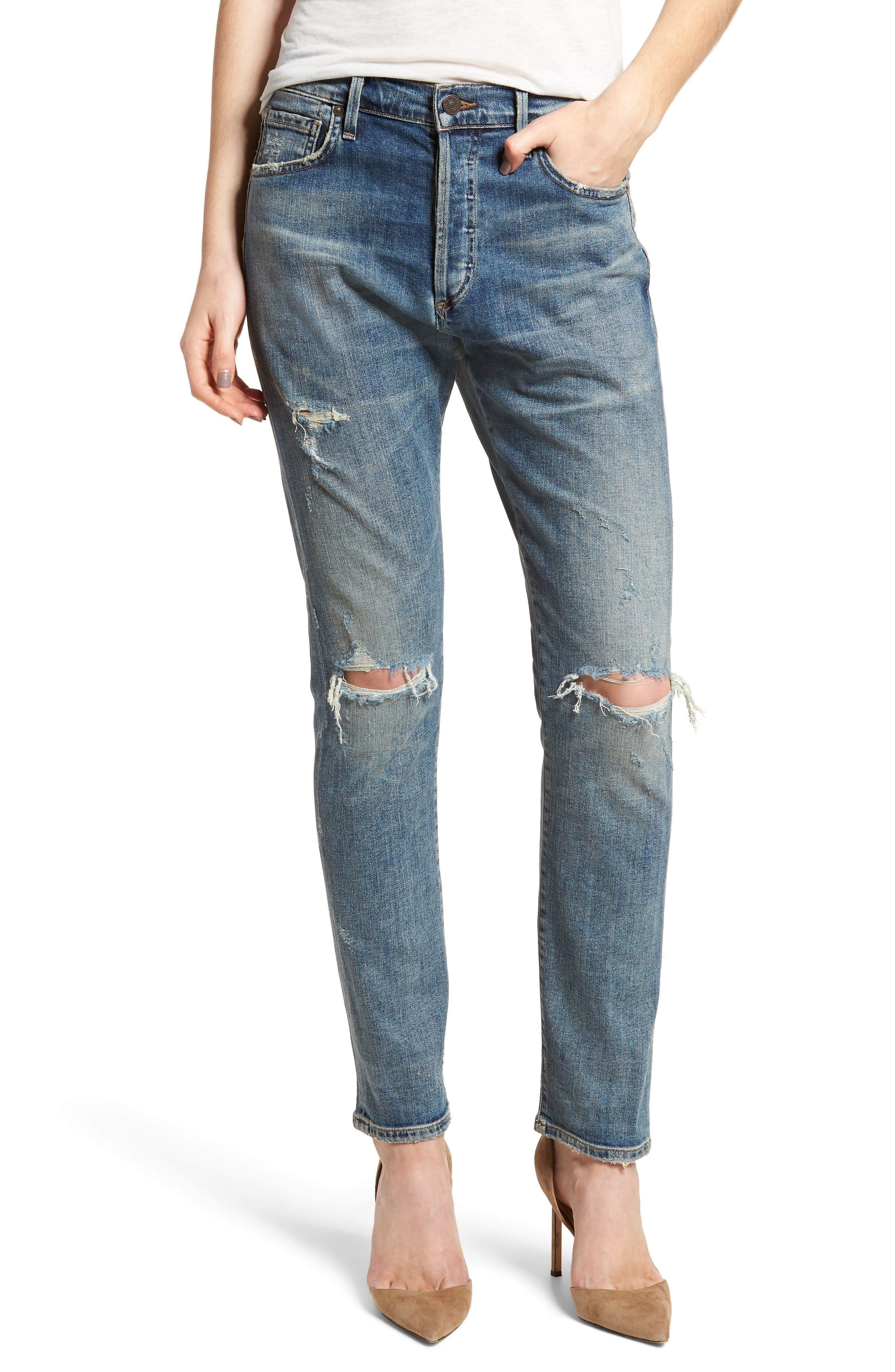 Corey Slouchy Slim Jeans,                         Main,                         color, Outpost