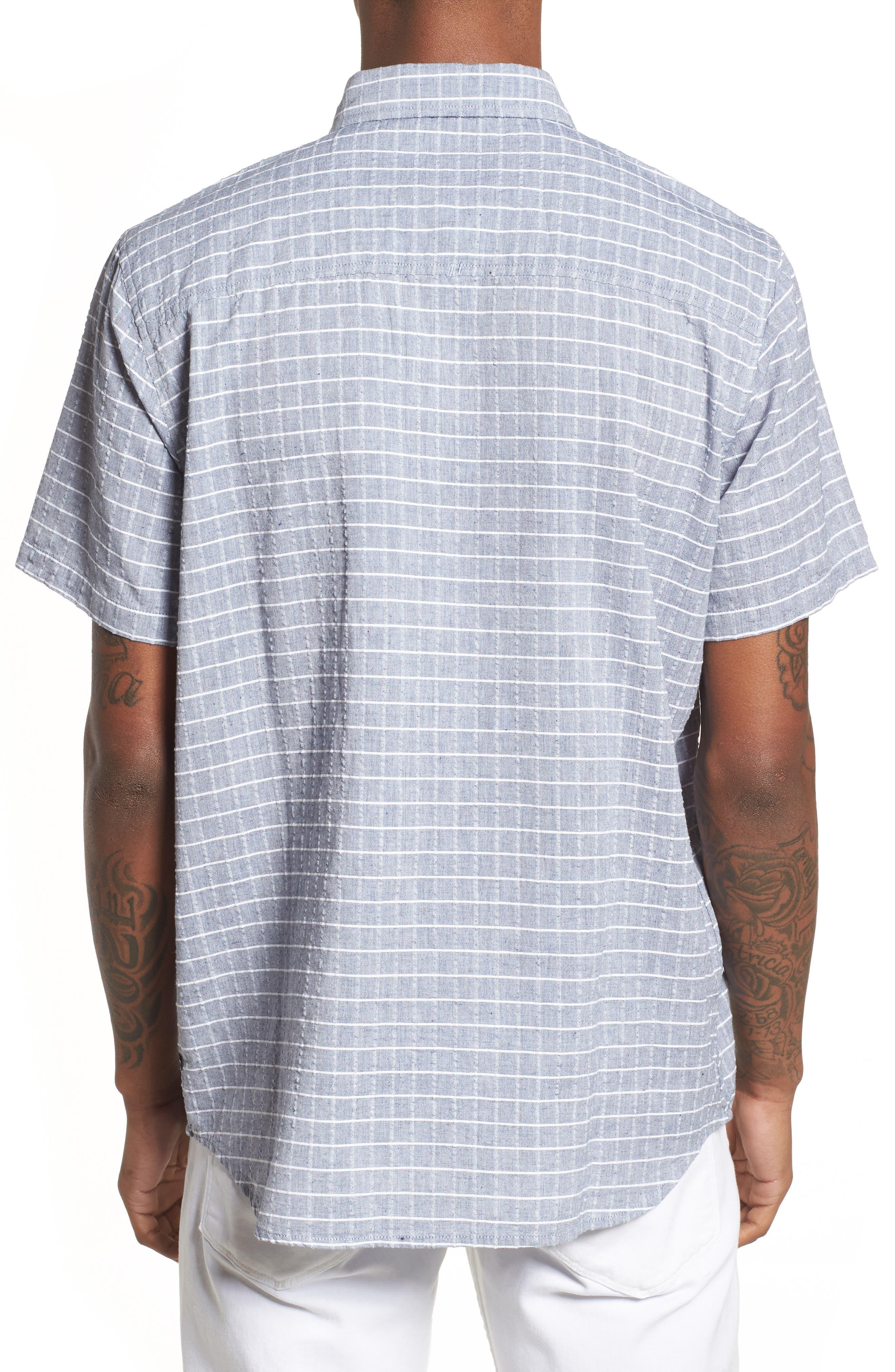 Wesley Woven Shirt,                             Alternate thumbnail 3, color,                             True Blue Stripe