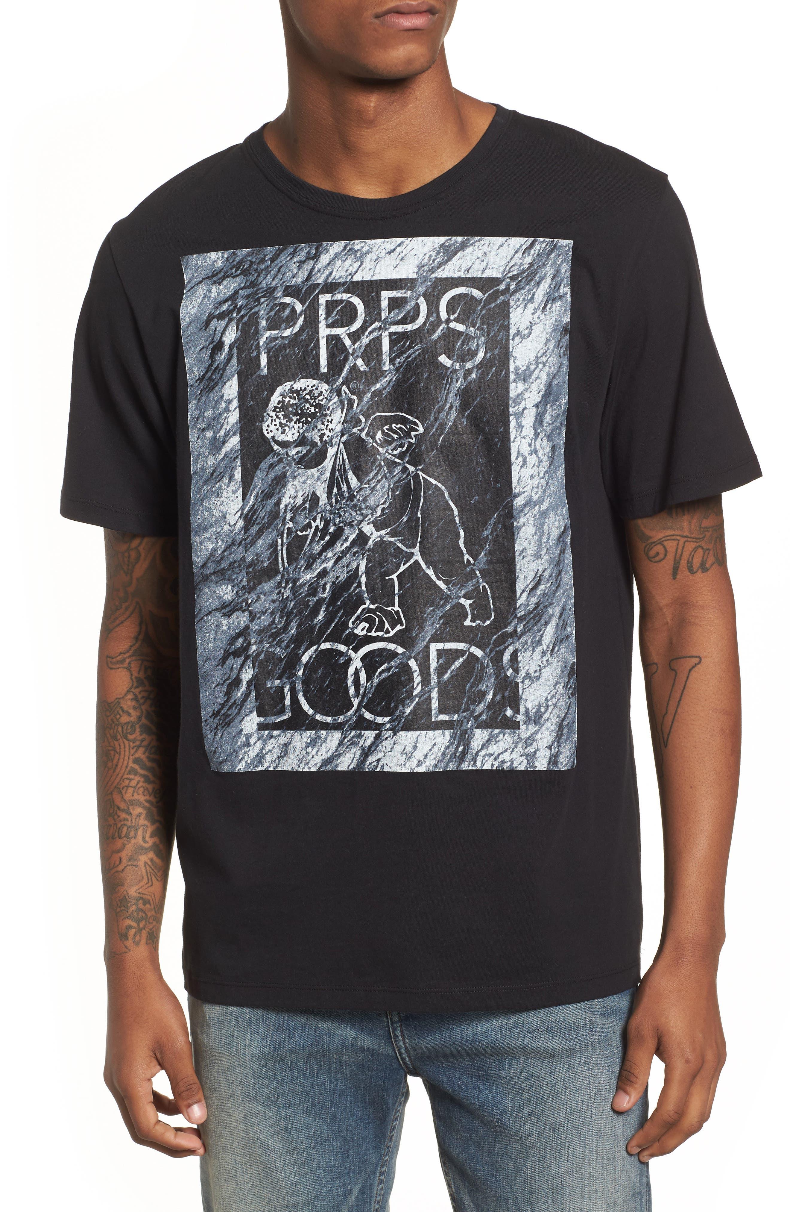 Cherub Graphic T-Shirt,                             Main thumbnail 1, color,                             Black