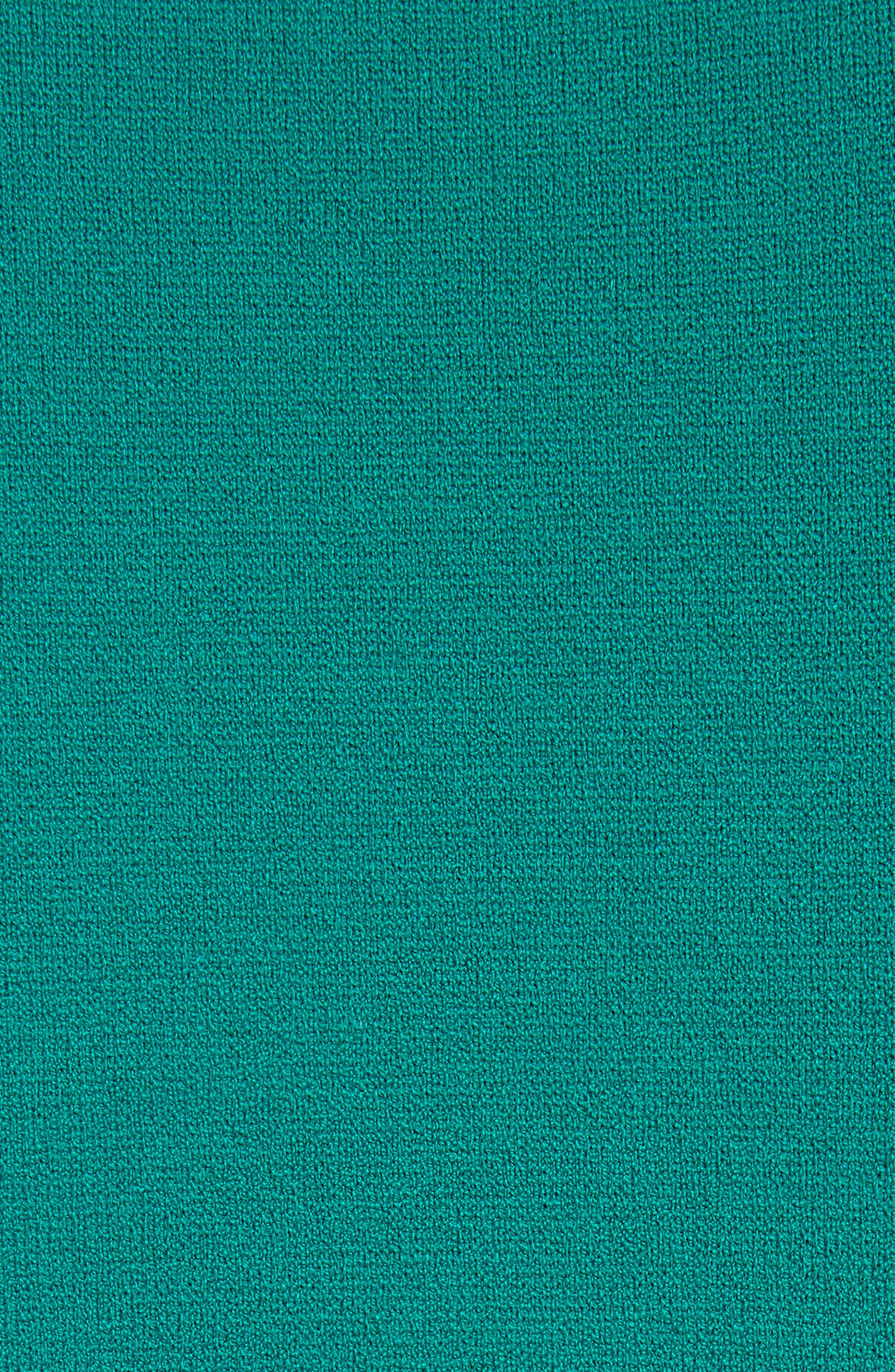 Diane von Furstenberg Stripe Short Sleeve Sweater Dress,                             Alternate thumbnail 5, color,                             Juniper Multi