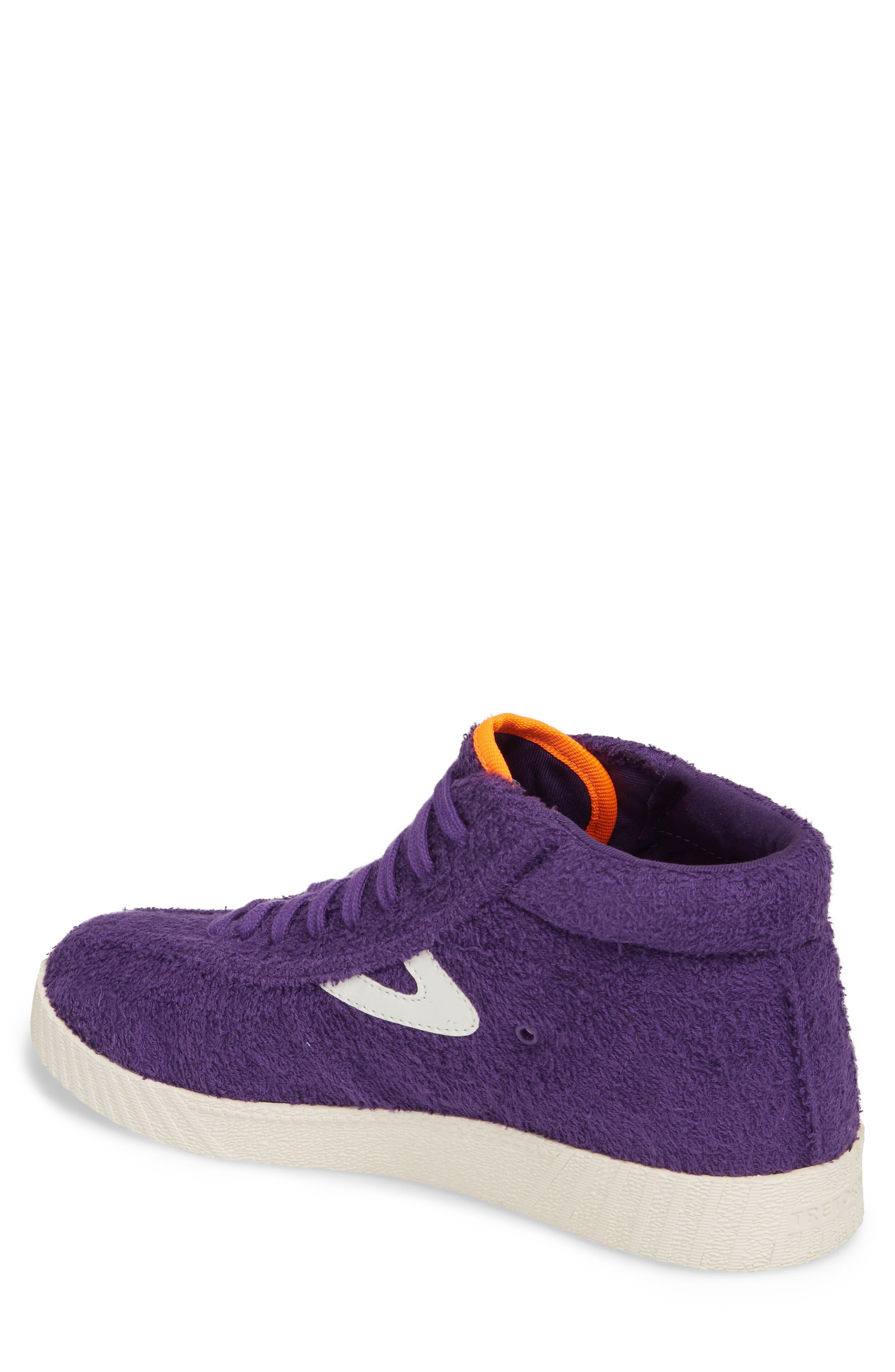Andre 3000 Nylite High Top Sneaker,                             Alternate thumbnail 2, color,                             Vibrant Purple/ Vintage White