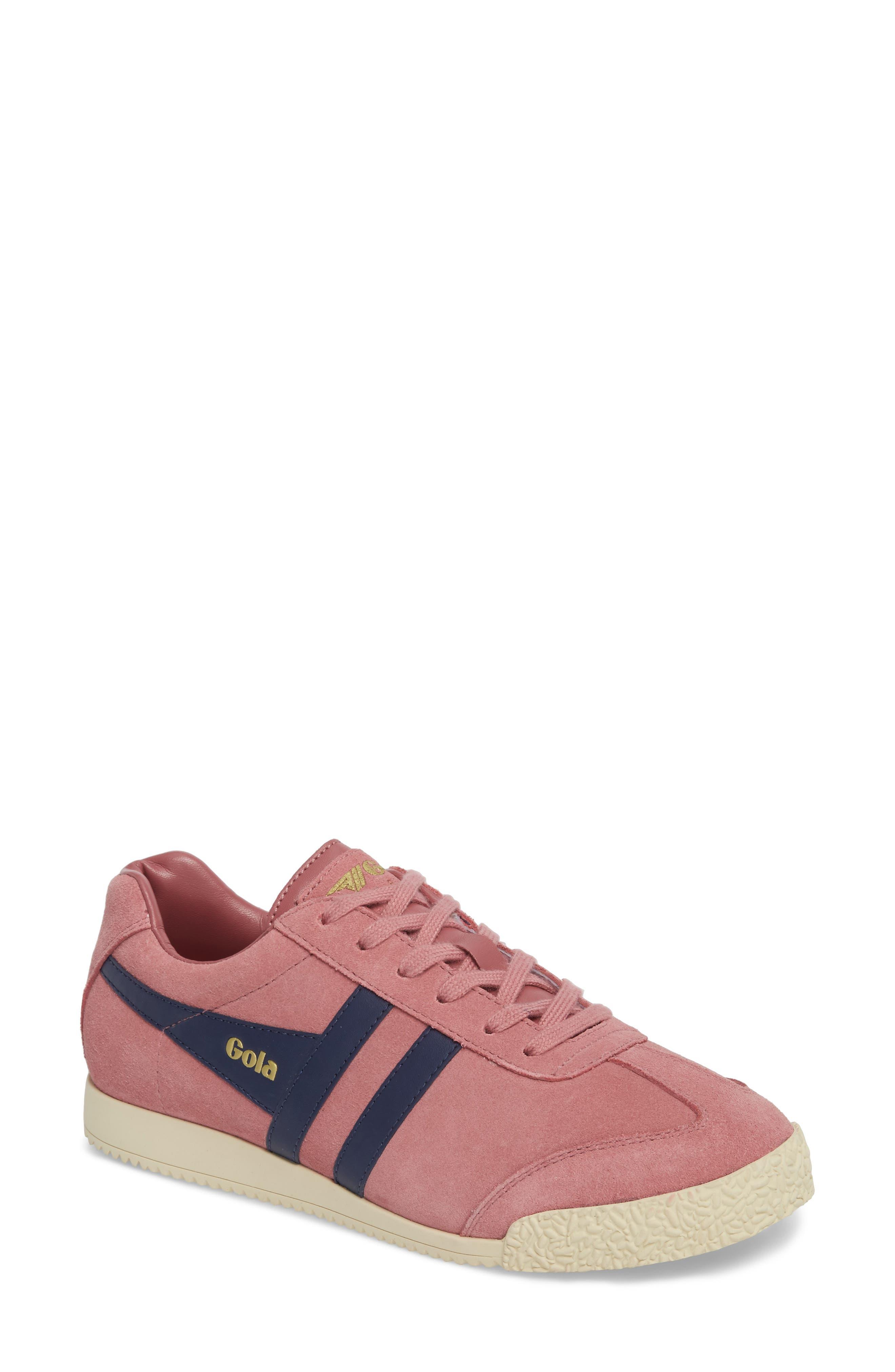 Harrier Suede Low Top Sneaker,                         Main,                         color, Dusty Rose/ Navy