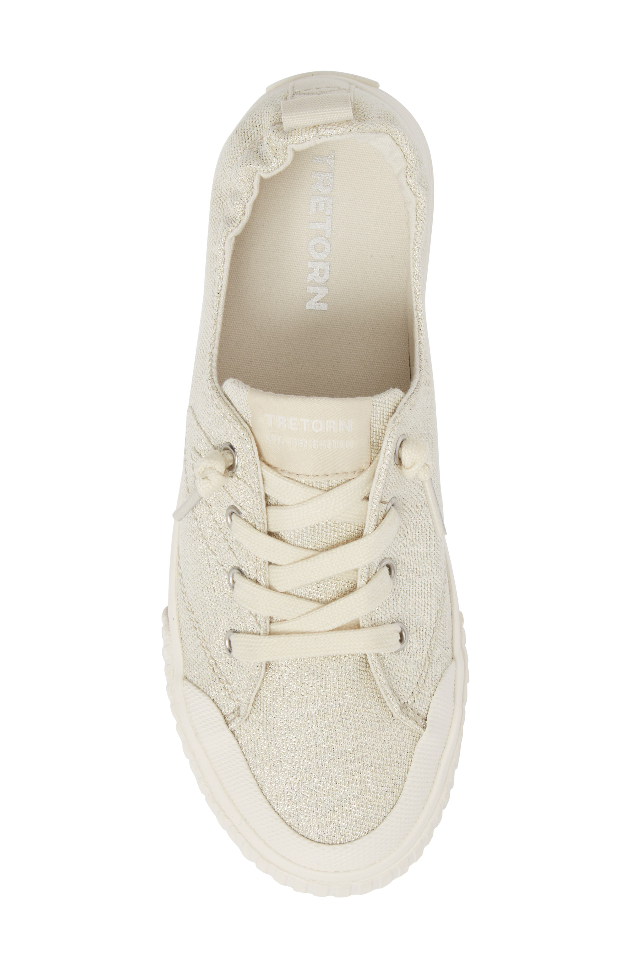 Meg Slip-On Sneaker,                             Alternate thumbnail 5, color,                             Angora/ White