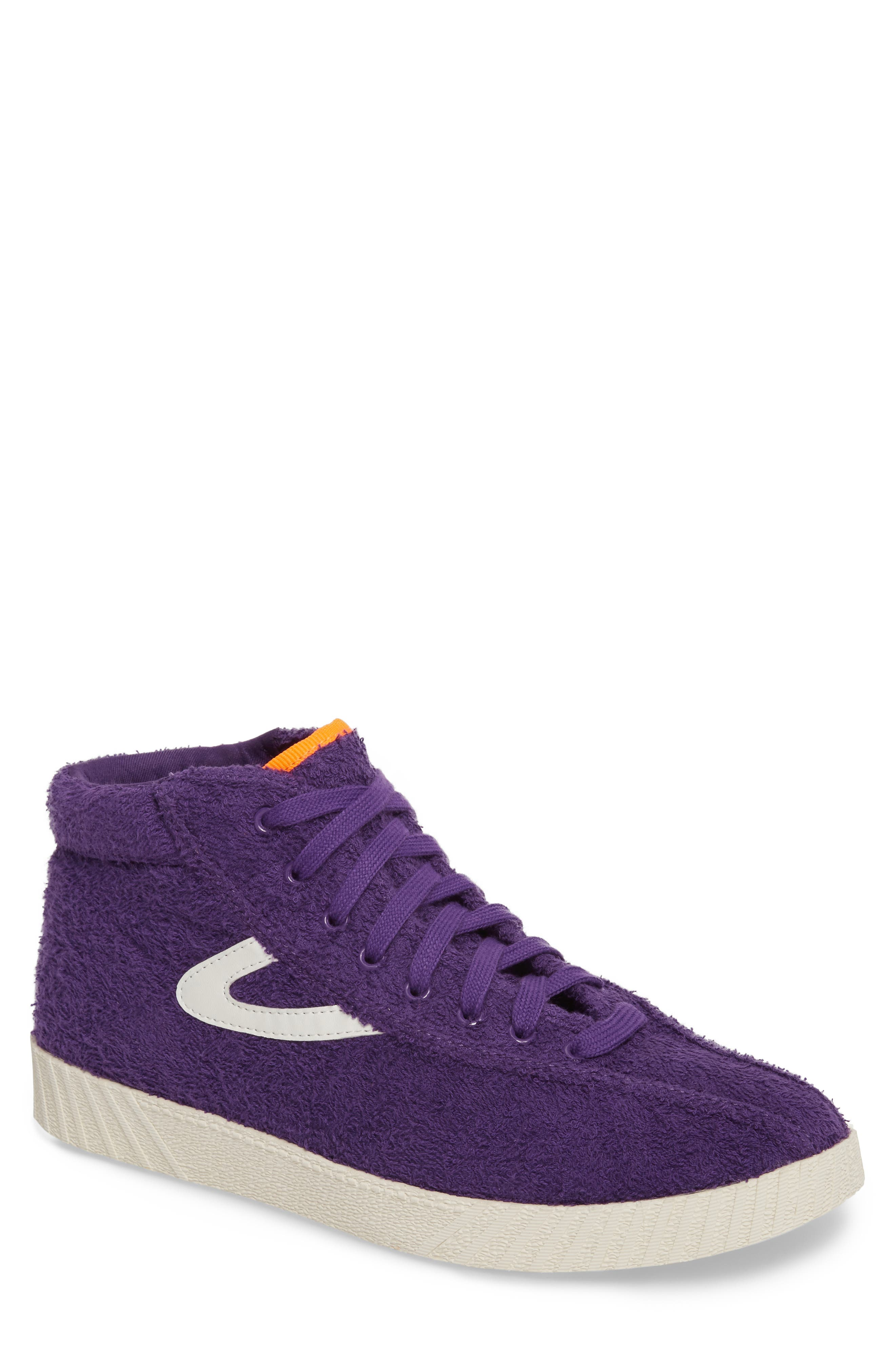 Andre 3000 Nylite High Top Sneaker,                         Main,                         color, Vibrant Purple/ Vintage White