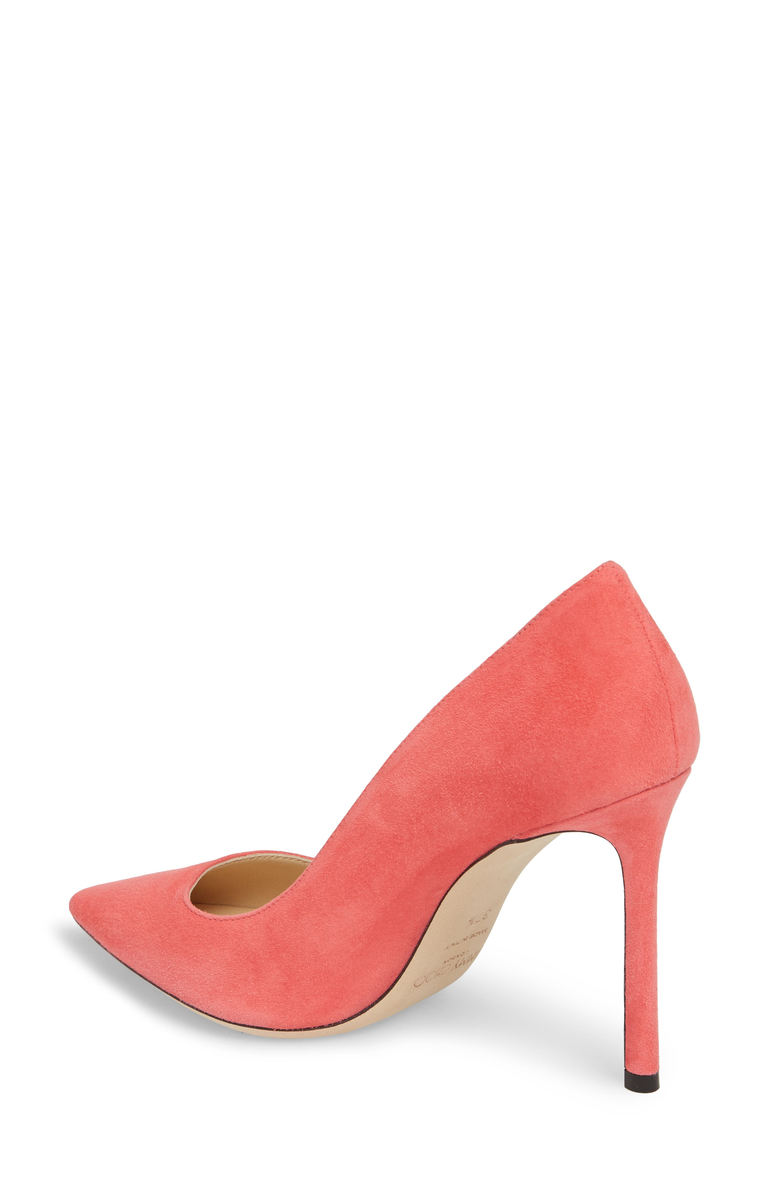 'Romy' Pointy Toe Pump,                             Alternate thumbnail 2, color,                             Flamingo Pink