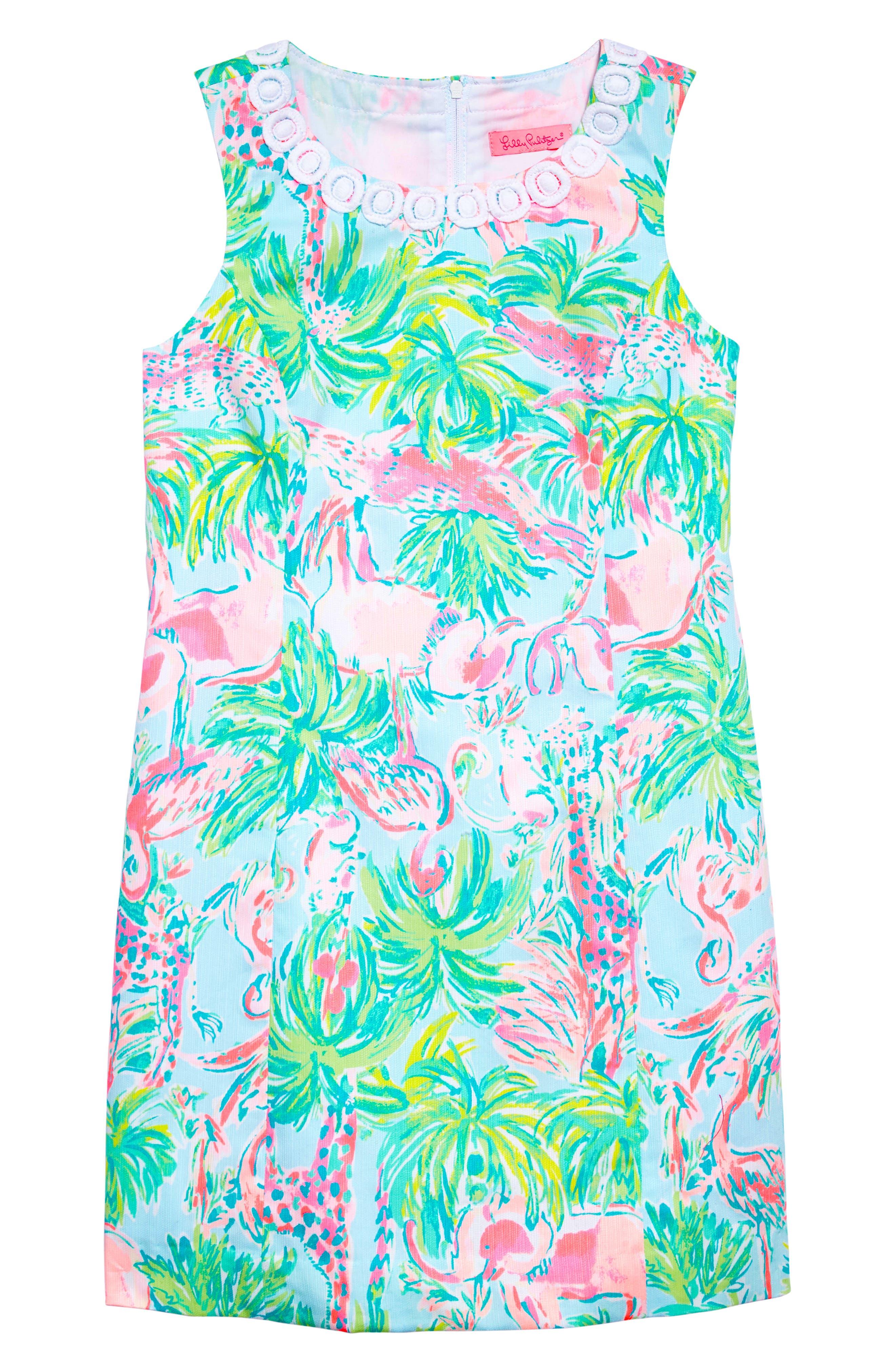 Mini Mila Shift Dress,                             Main thumbnail 1, color,                             Seasalt Blue On Parade