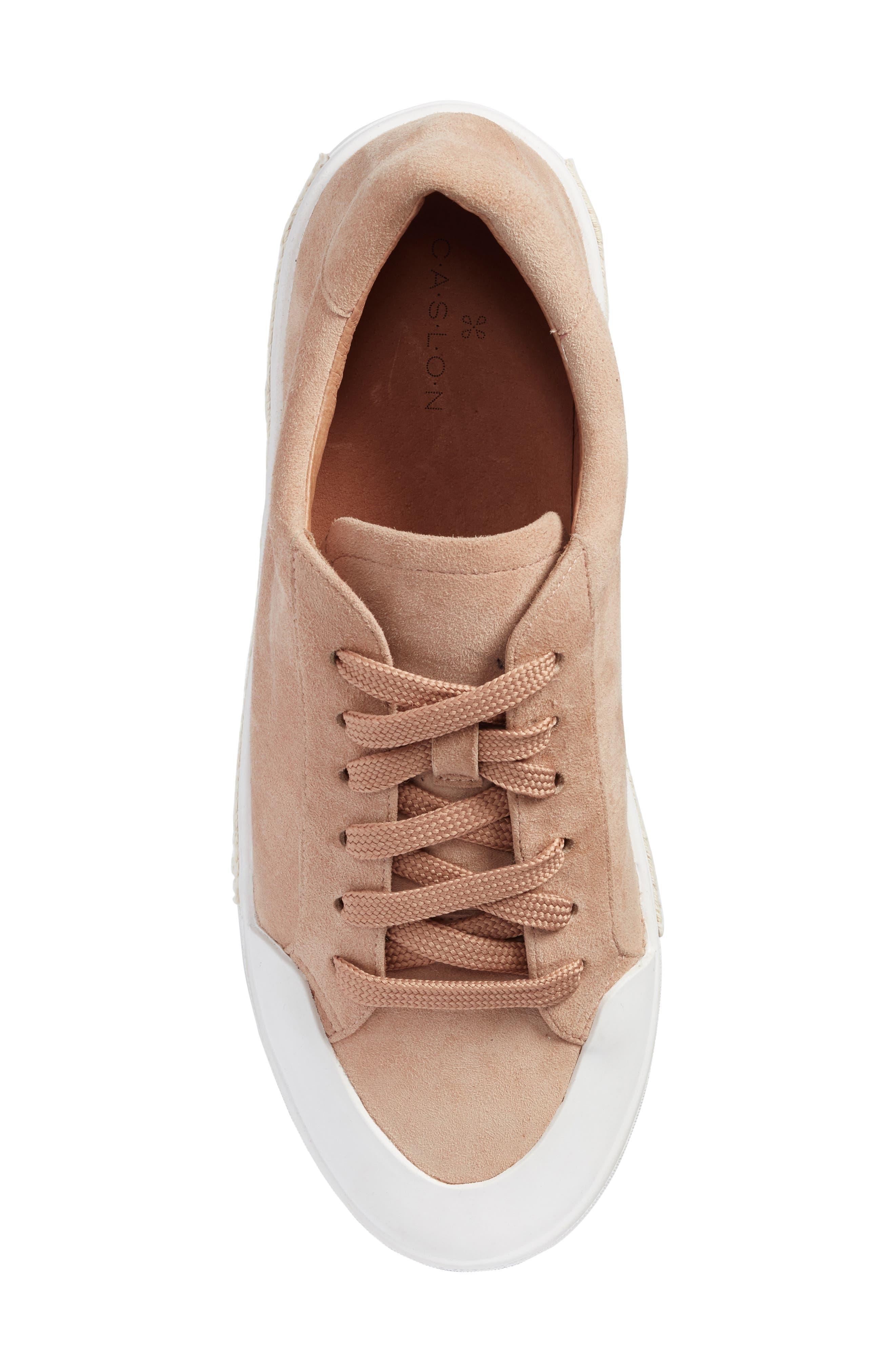 Toran Platform Sneaker,                             Alternate thumbnail 5, color,                             Blush Suede