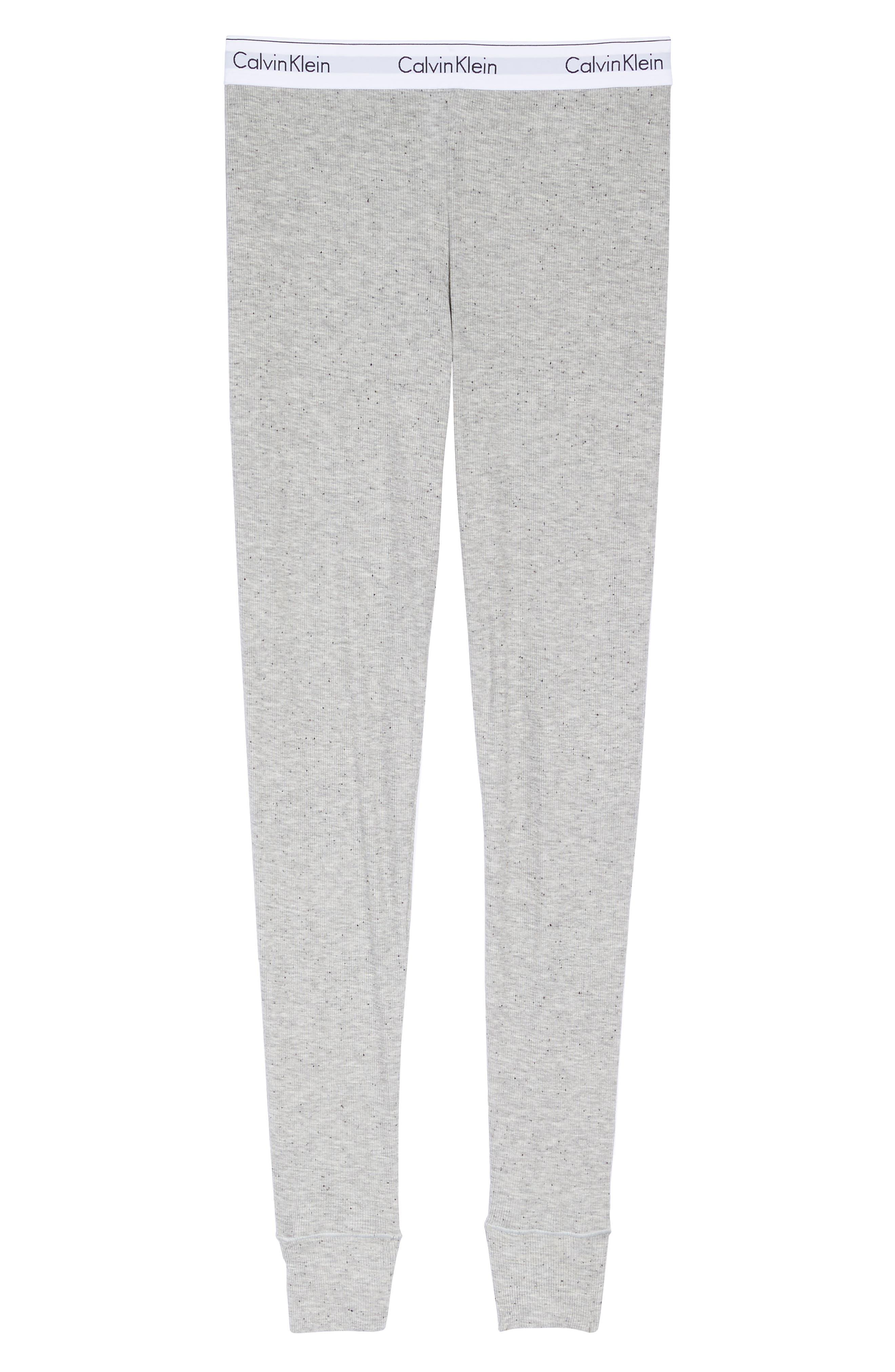 Lounge Leggings,                             Alternate thumbnail 4, color,                             Graphic Rib Grey Heather