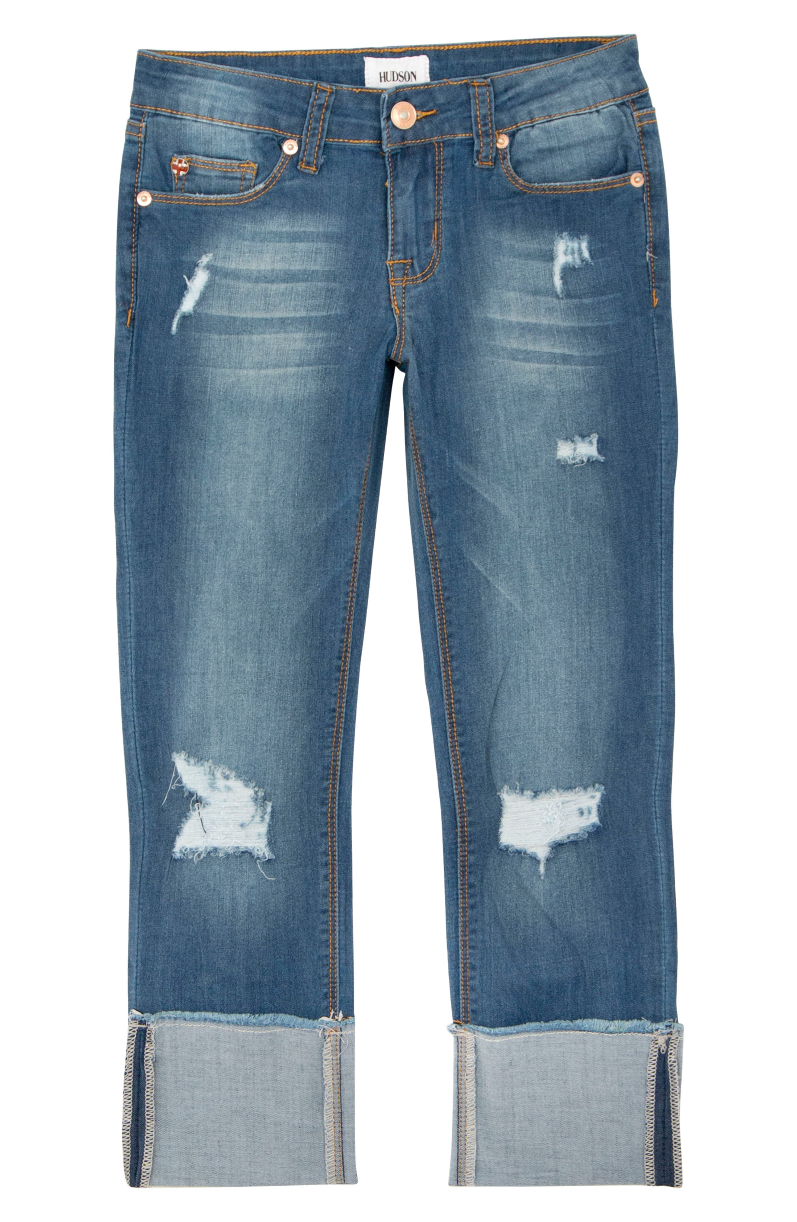 Jessa Crop Skinny Jeans,                             Main thumbnail 1, color,                             Jetty Blue