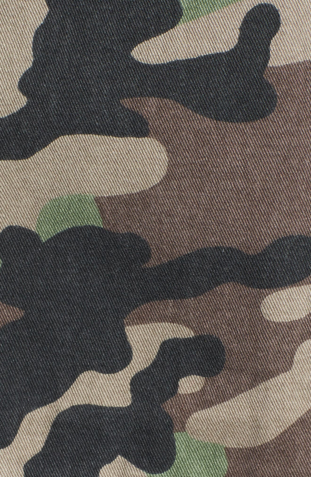 Military Patch Jacket,                             Alternate thumbnail 5, color,                             Brown Green Camo