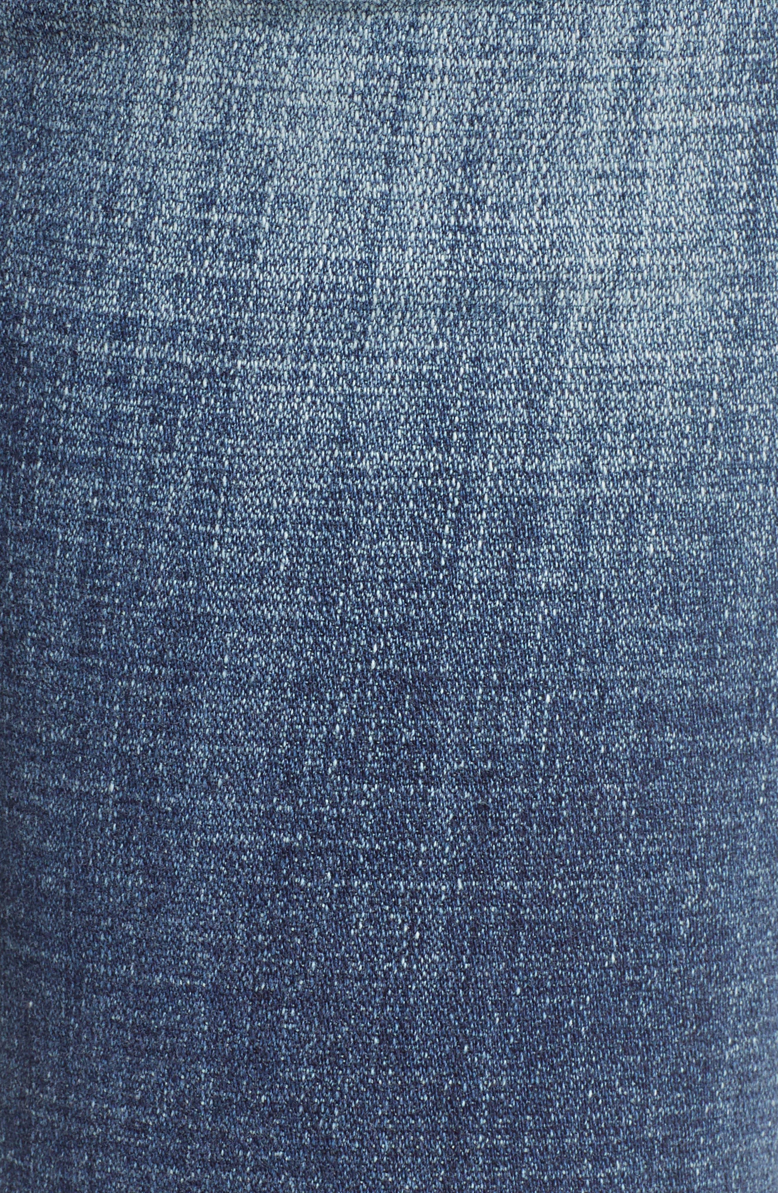 Amy Distressed Crop Jeans,                             Alternate thumbnail 6, color,                             Soar