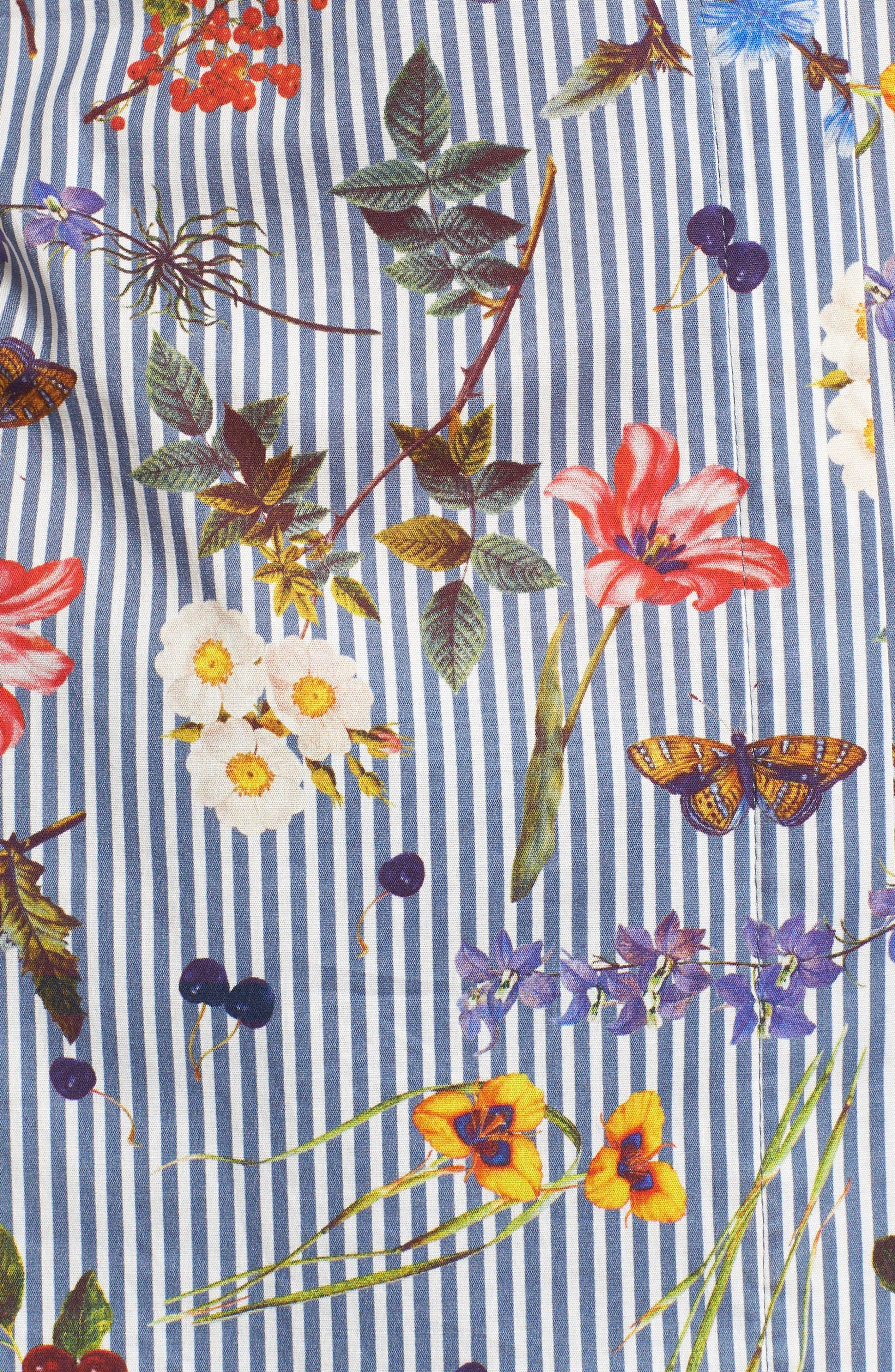 Horticulture Off the Shoulder Top,                             Alternate thumbnail 6, color,                             Botanical Stripe/ Multi