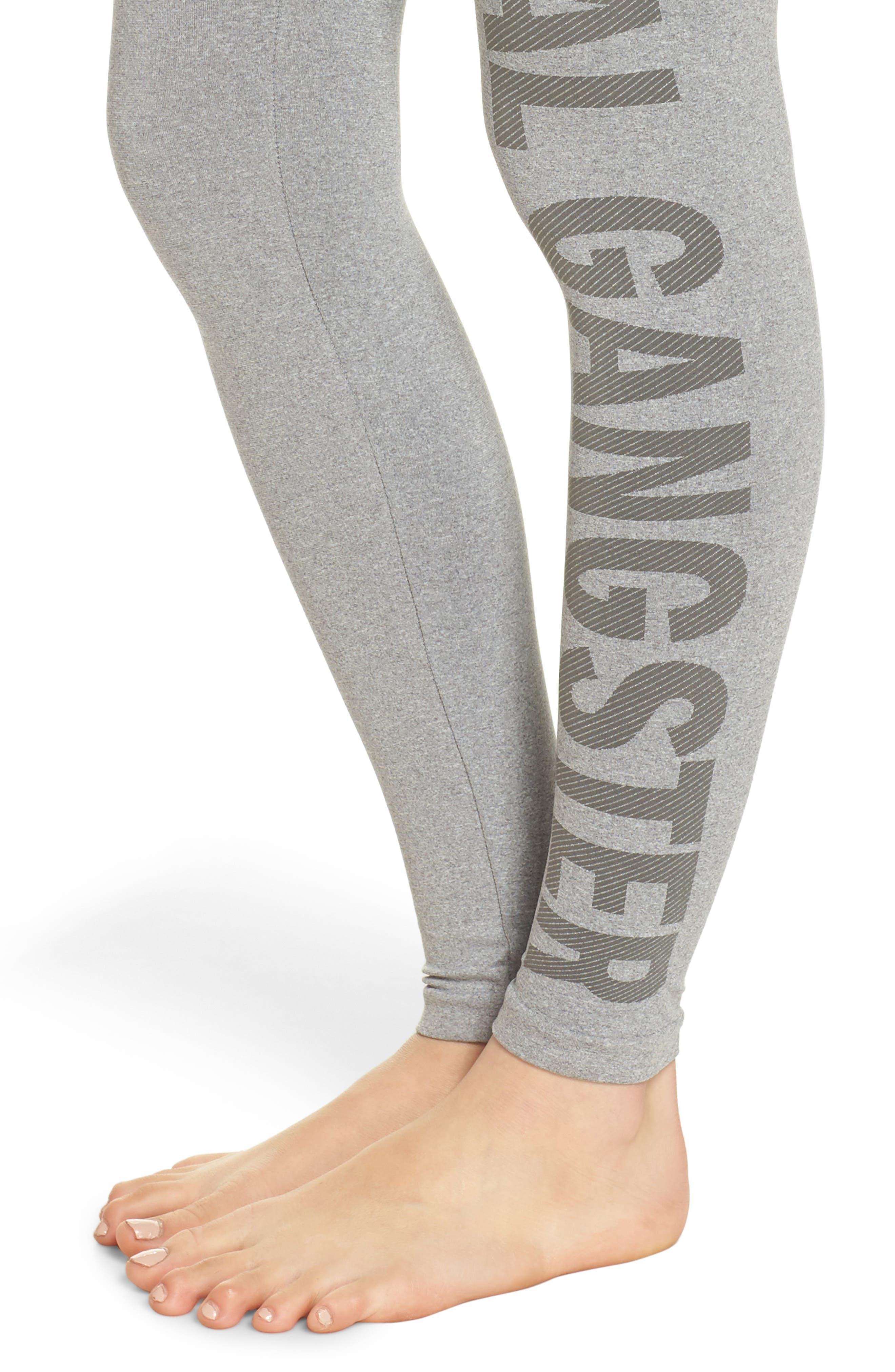 Seamless High Waist Leggings,                             Alternate thumbnail 4, color,                             Htr Grey