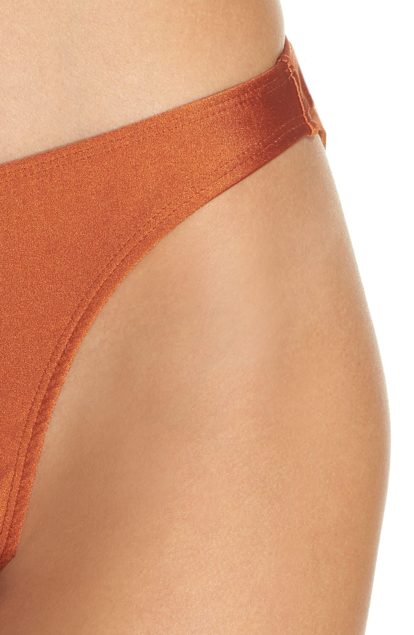 Lindsey Bikini Bottoms,                             Alternate thumbnail 4, color,                             Ginger Orange