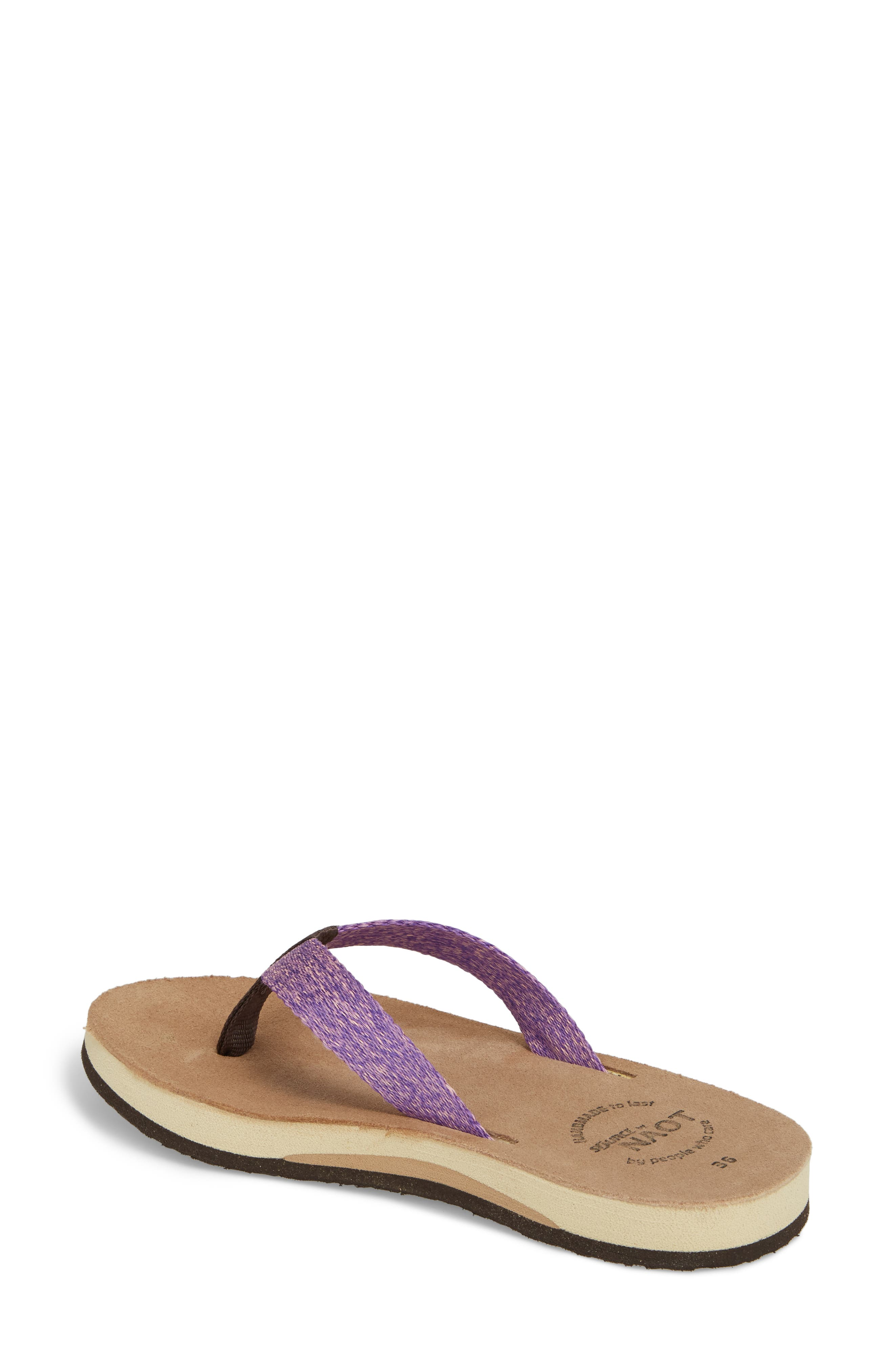 Island Flip Flop,                             Alternate thumbnail 2, color,                             Purple Lilac Fabric