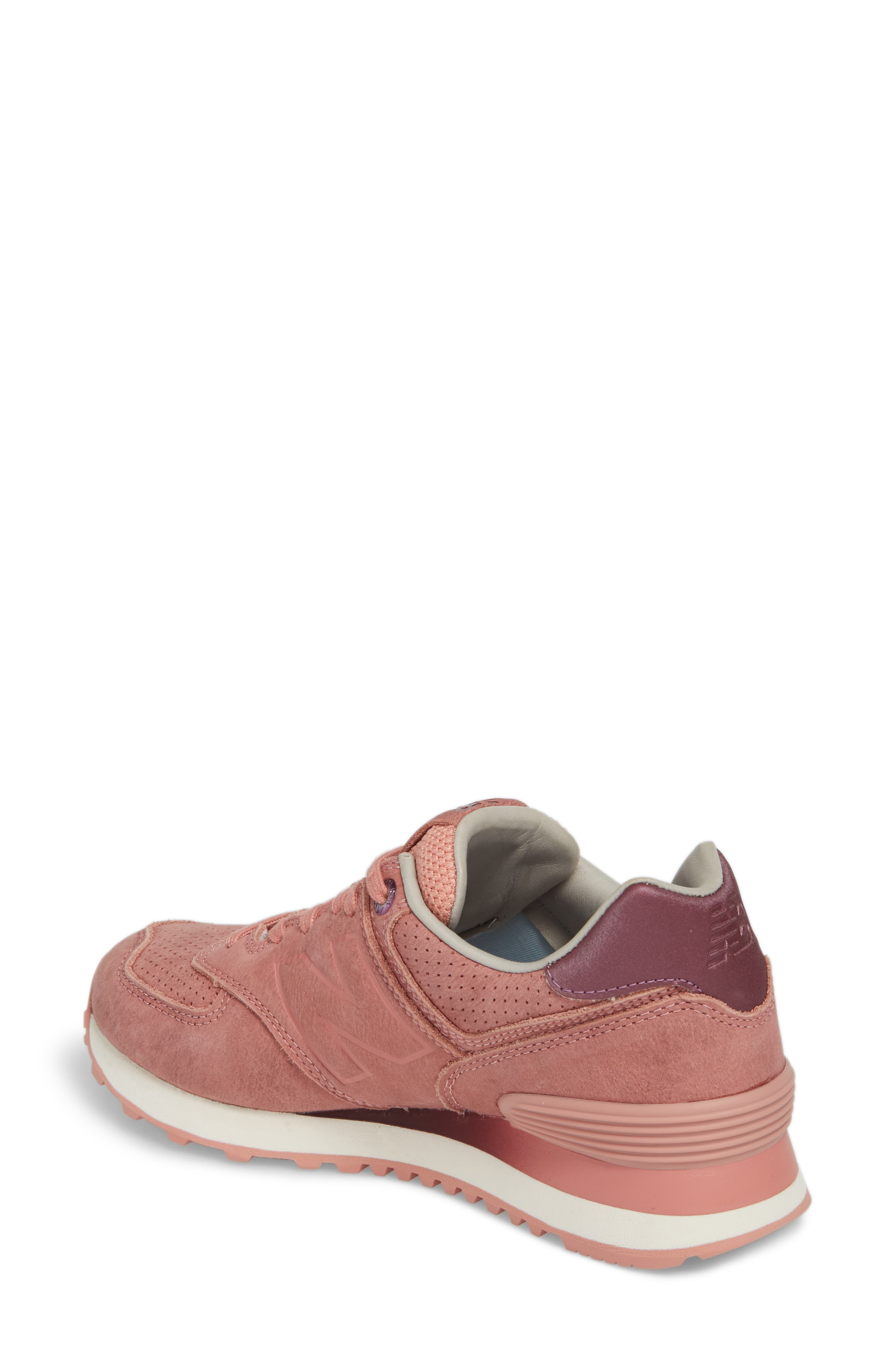 574 Sneaker,                             Alternate thumbnail 2, color,                             Dusted Peach