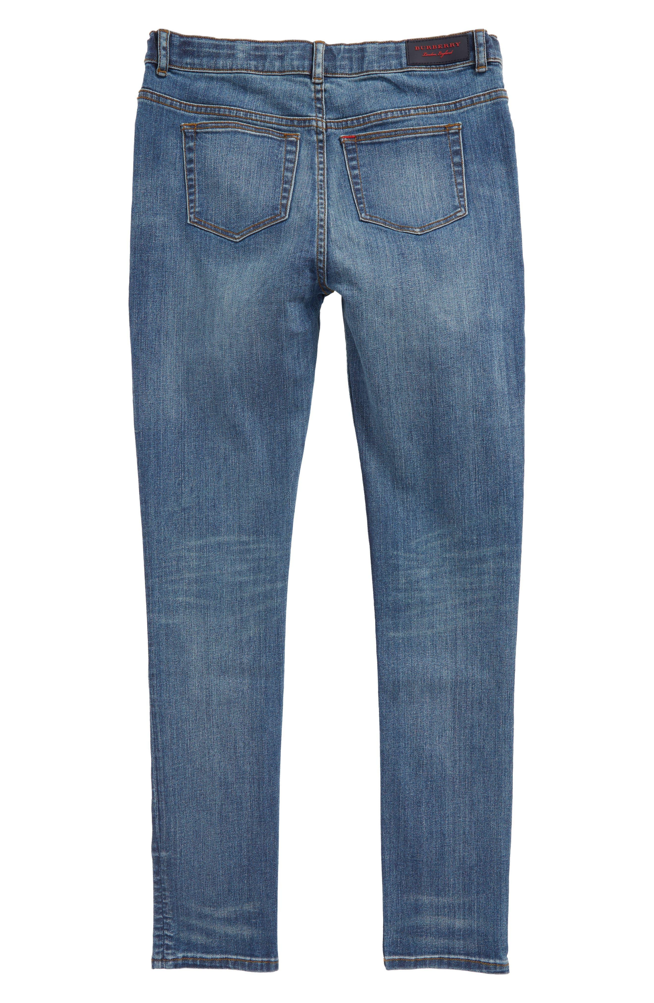 Skinny Jeans,                             Alternate thumbnail 2, color,                             Medium Indigo