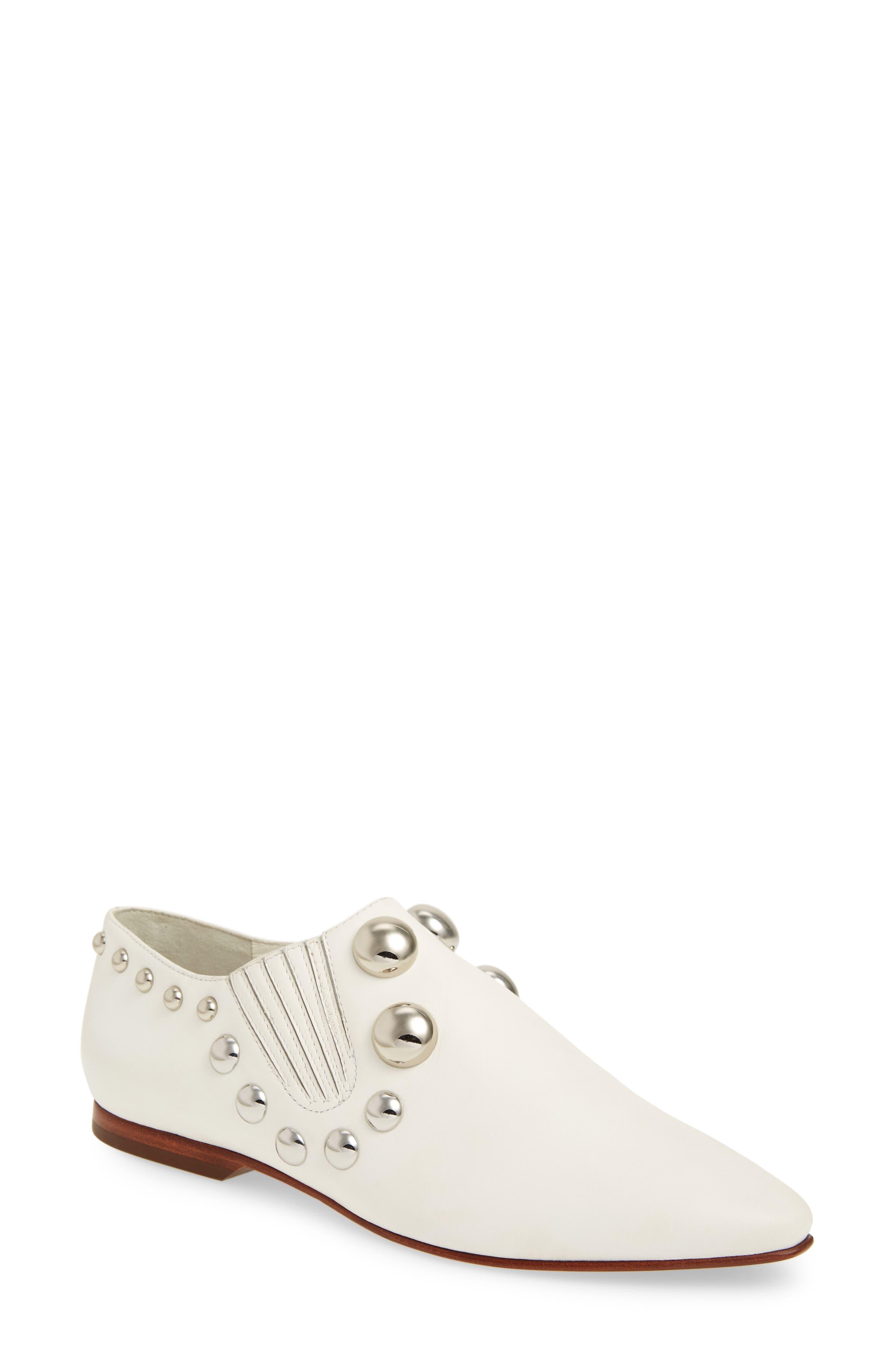 Blythe Studded Loafer,                             Main thumbnail 1, color,                             White