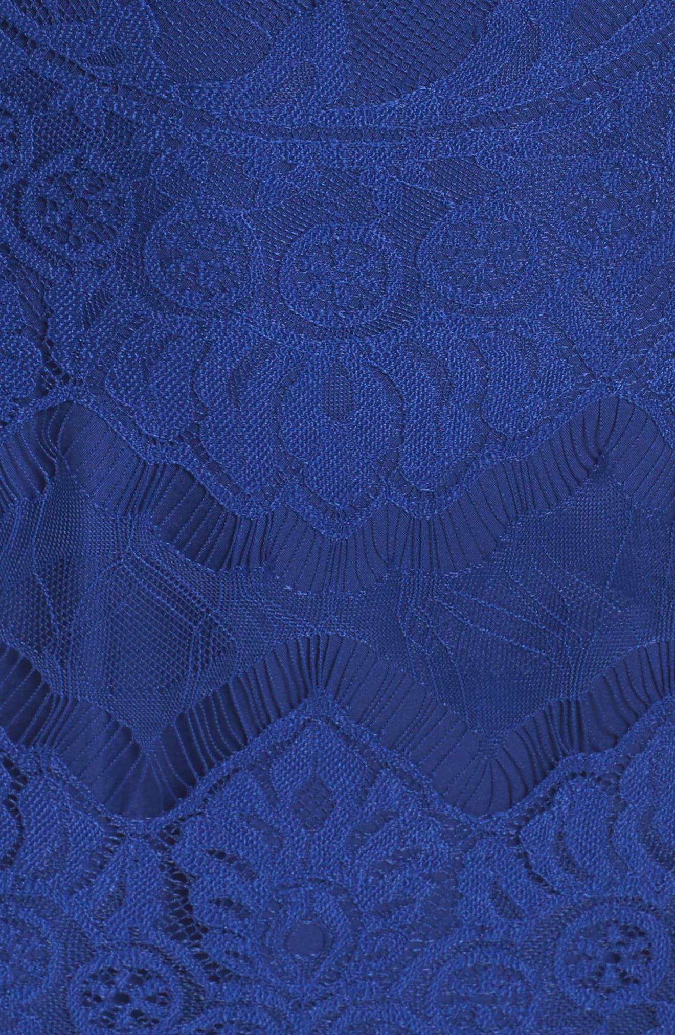Jayce Lace Sheath Dress,                             Alternate thumbnail 5, color,                             Sapphire