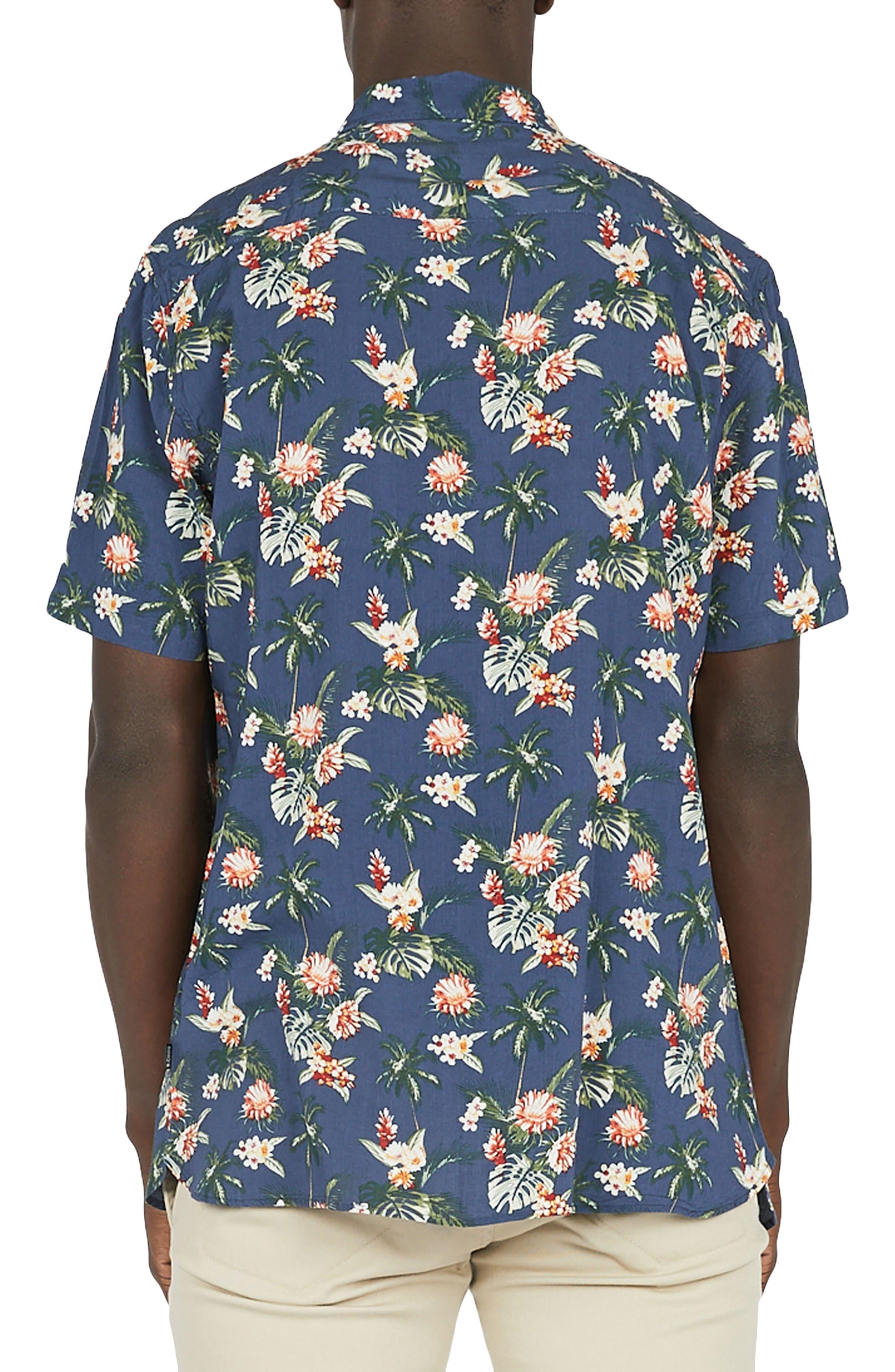Holiday Woven Shirt,                             Alternate thumbnail 2, color,                             Navy Hawaii