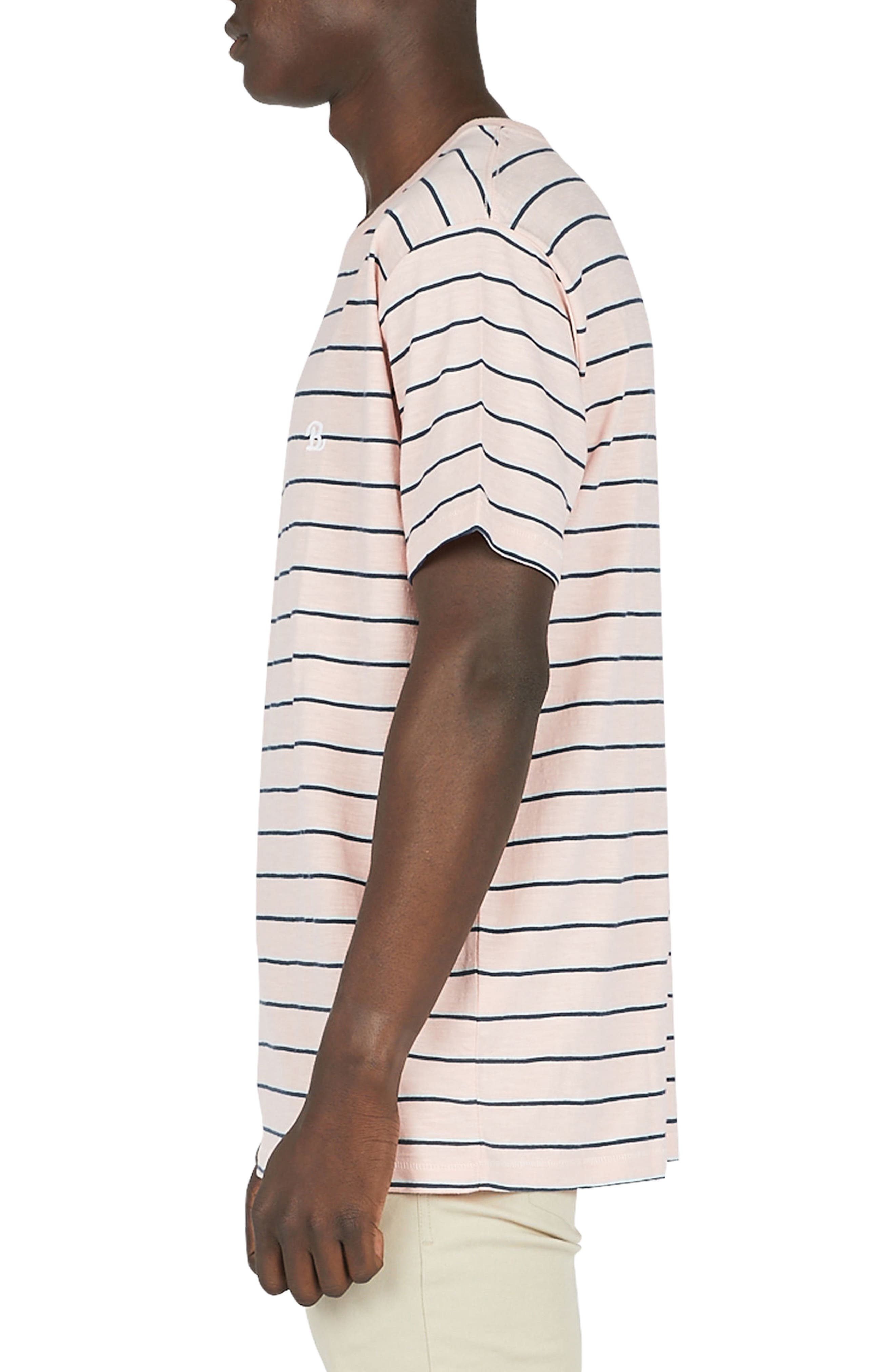 B.Schooled T-Shirt,                             Alternate thumbnail 3, color,                             Pink Stripe