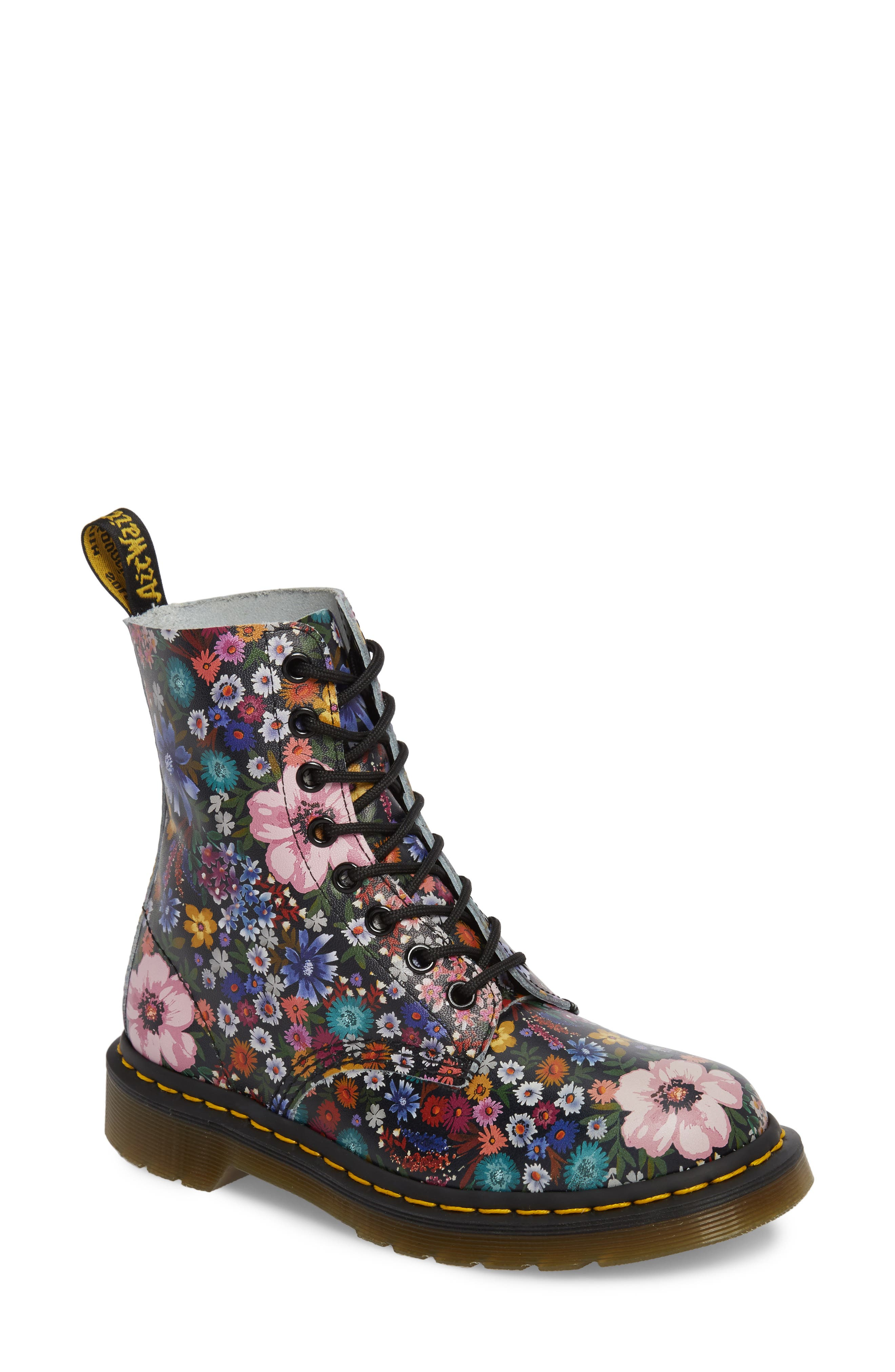 Pascal Wanderlust Boot,                             Main thumbnail 1, color,                             Black Floral Leather