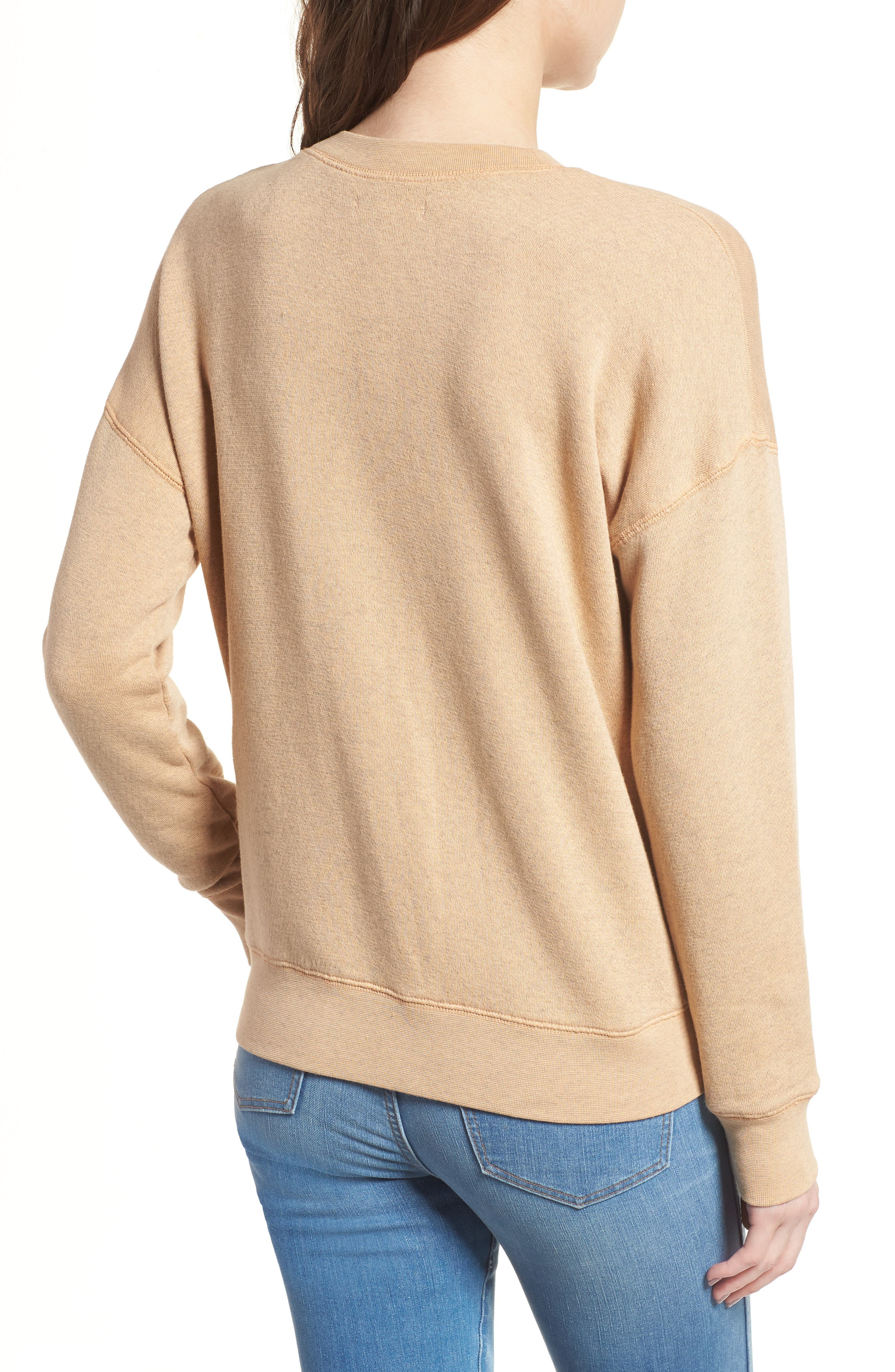Mainstay Sweatshirt,                             Alternate thumbnail 2, color,                             Hthr Dune