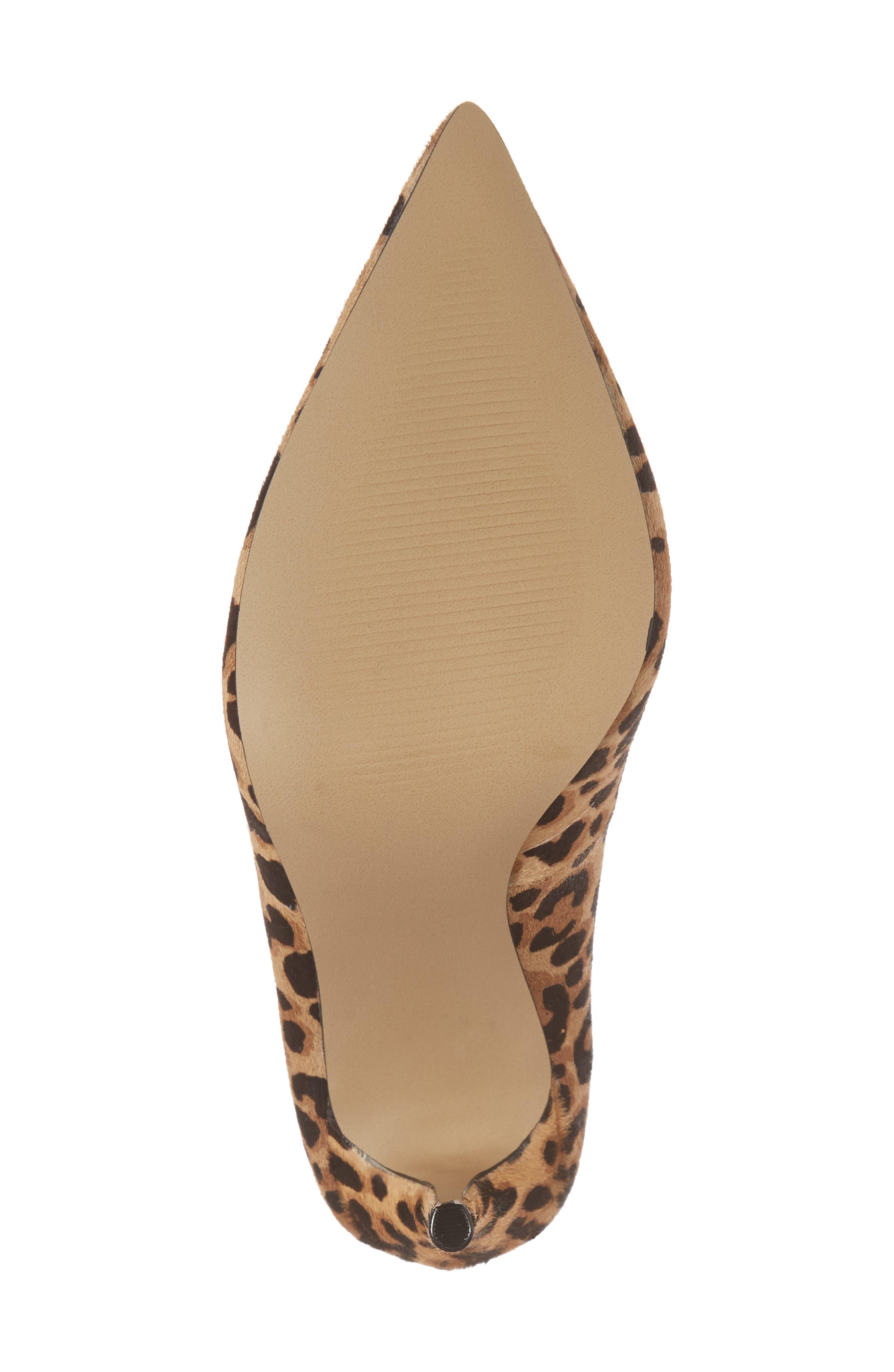 Daisie Genuine Calf Hair Pointy-Toe Pump,                             Alternate thumbnail 6, color,                             Leopard