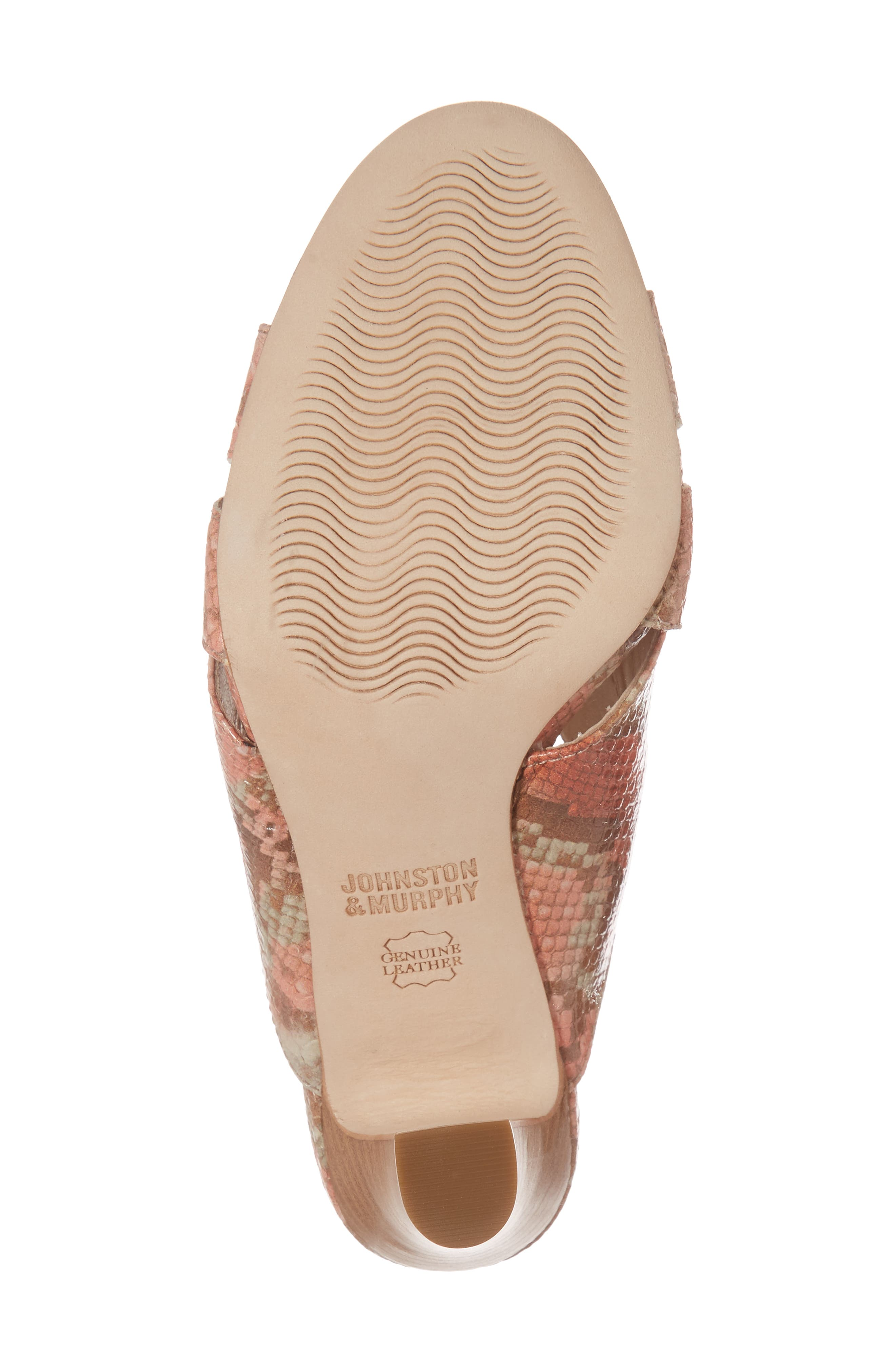 Carrie Mule Sandal,                             Alternate thumbnail 6, color,                             Coral Leather