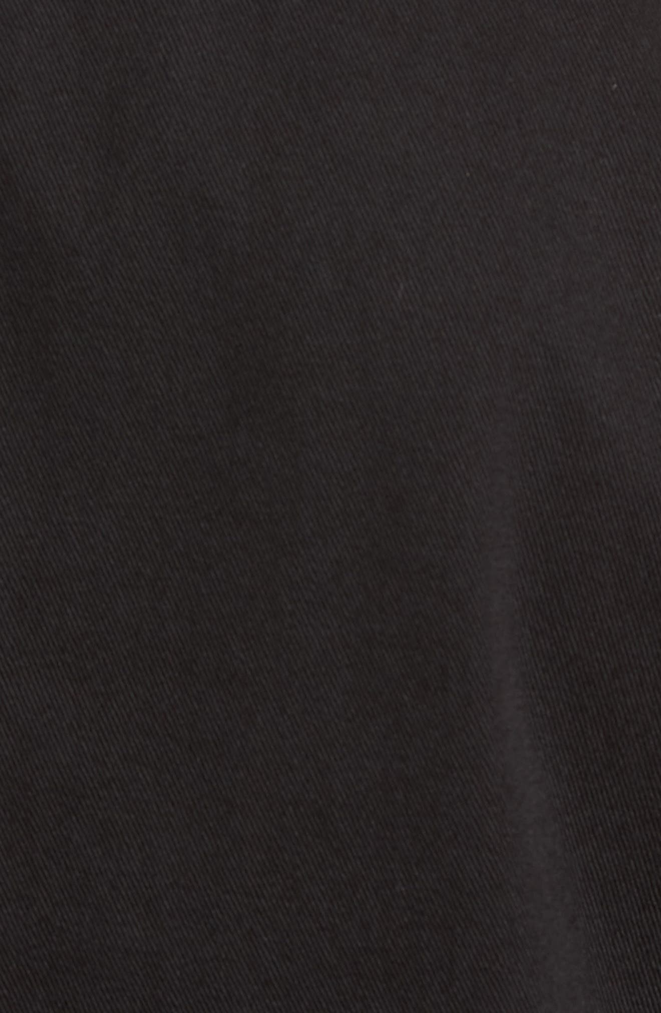 Twill Trucker Jacket,                             Alternate thumbnail 5, color,                             Black