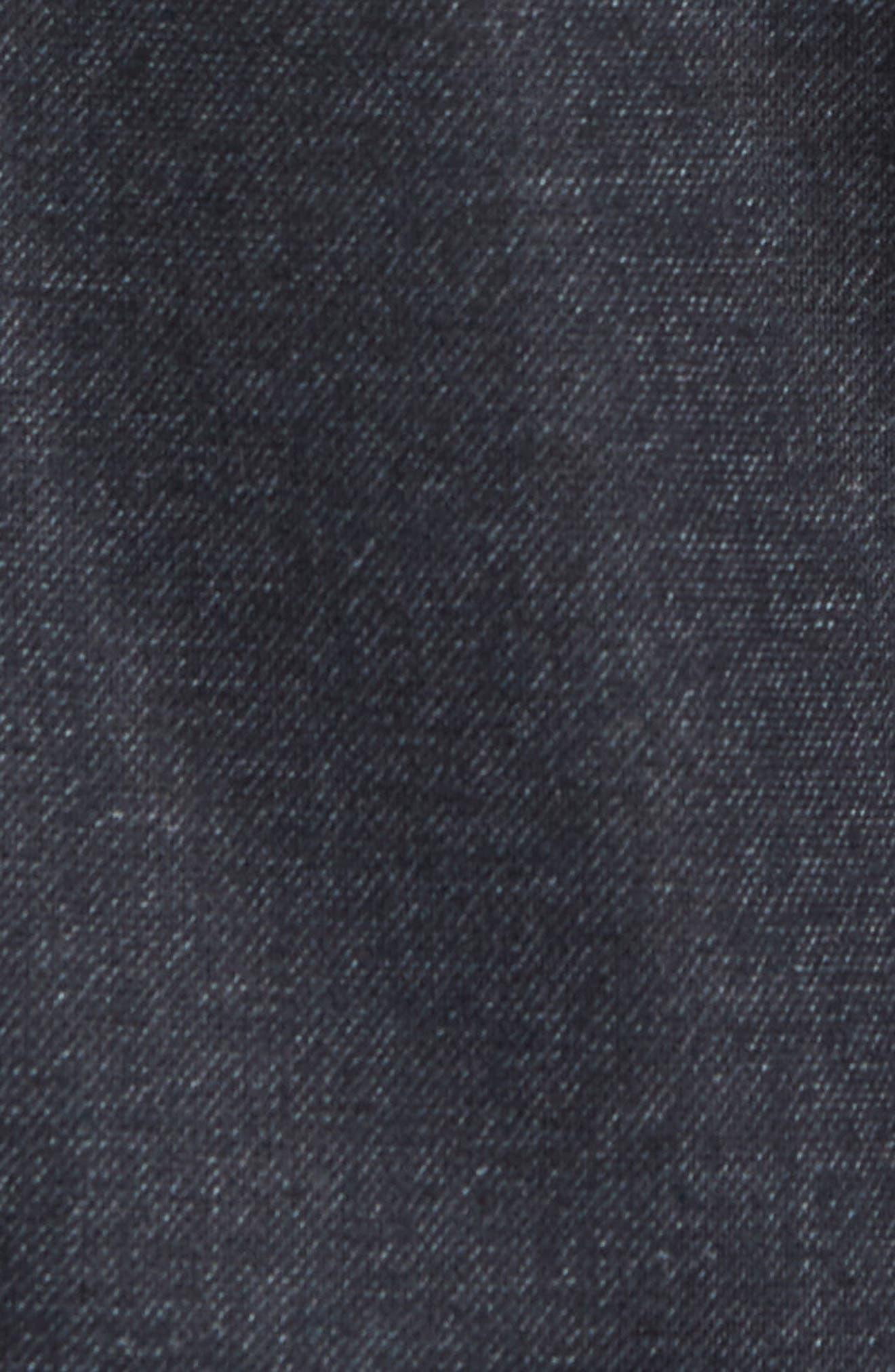 Lightweight Denim Bomber Jacket,                             Alternate thumbnail 5, color,                             Navy