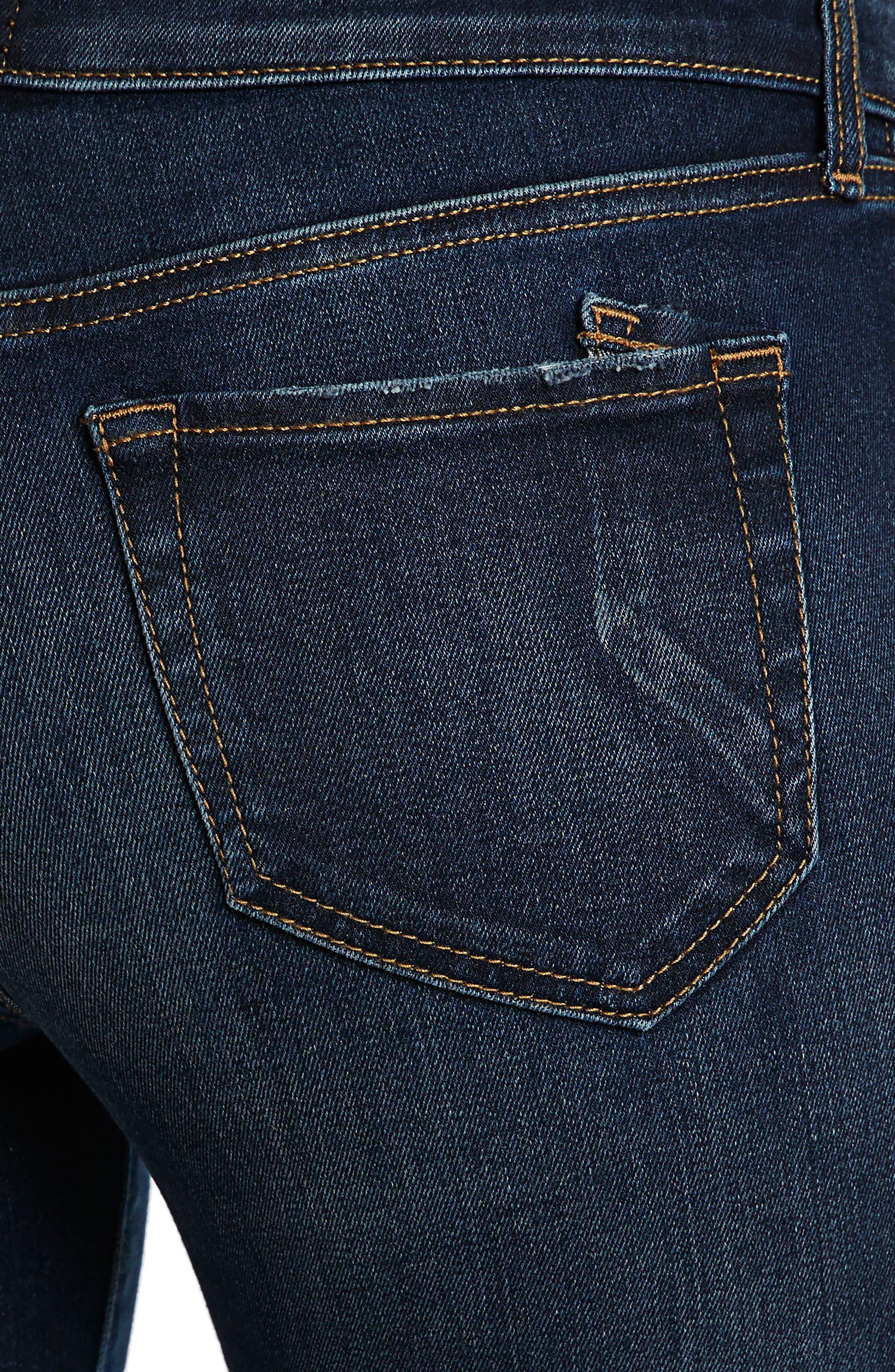 Camaro Ankle Skinny Jeans,                             Alternate thumbnail 4, color,                             Indigo