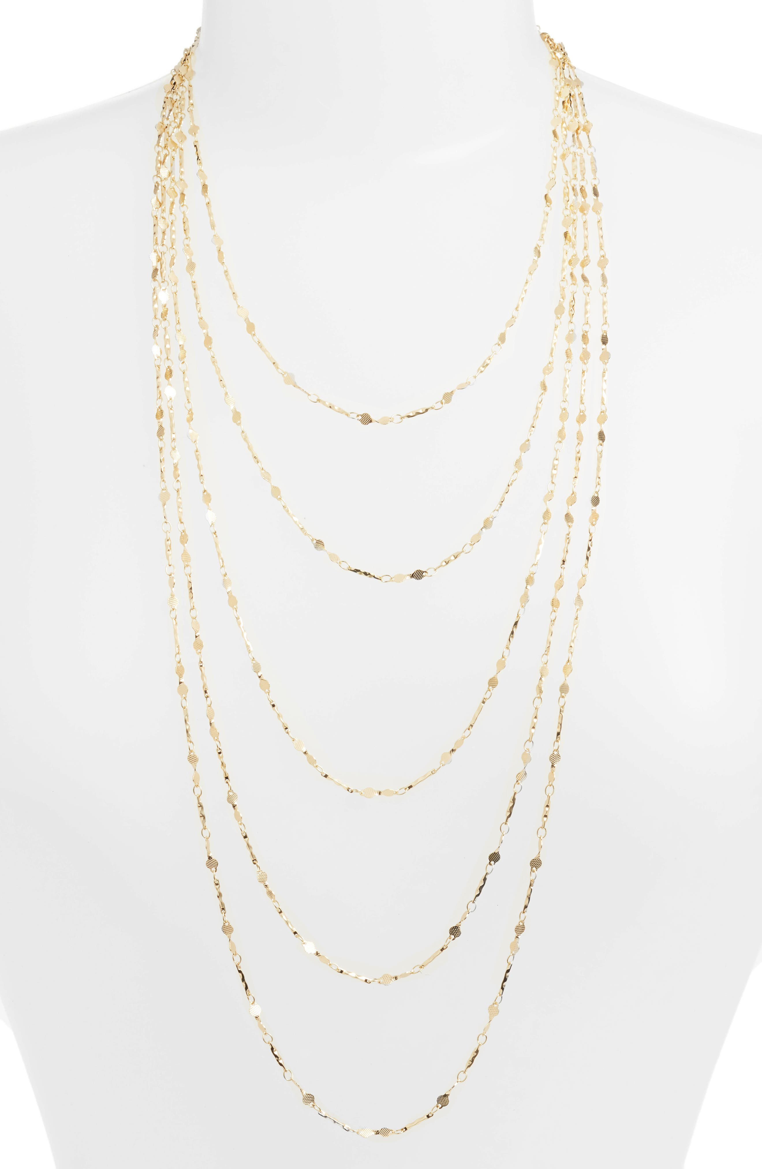5-Strand Necklace,                         Main,                         color, Gold