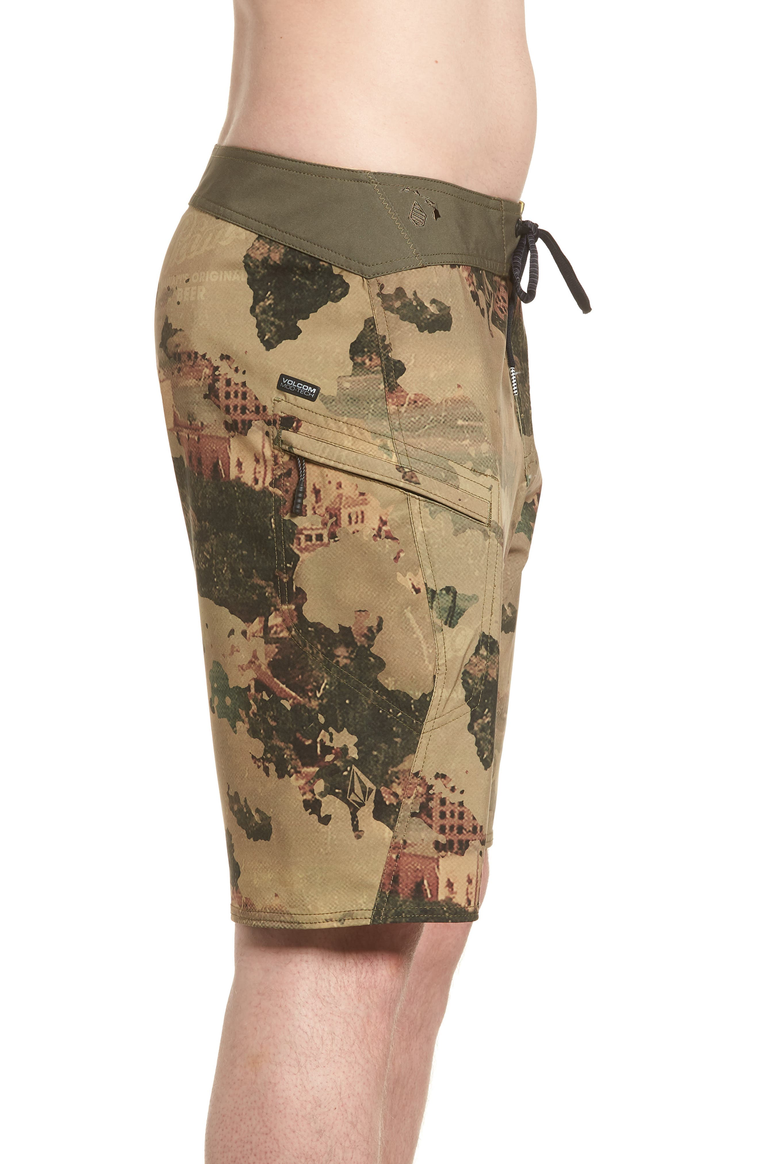 Primo Beer Board Shorts,                             Alternate thumbnail 4, color,                             Camouflage