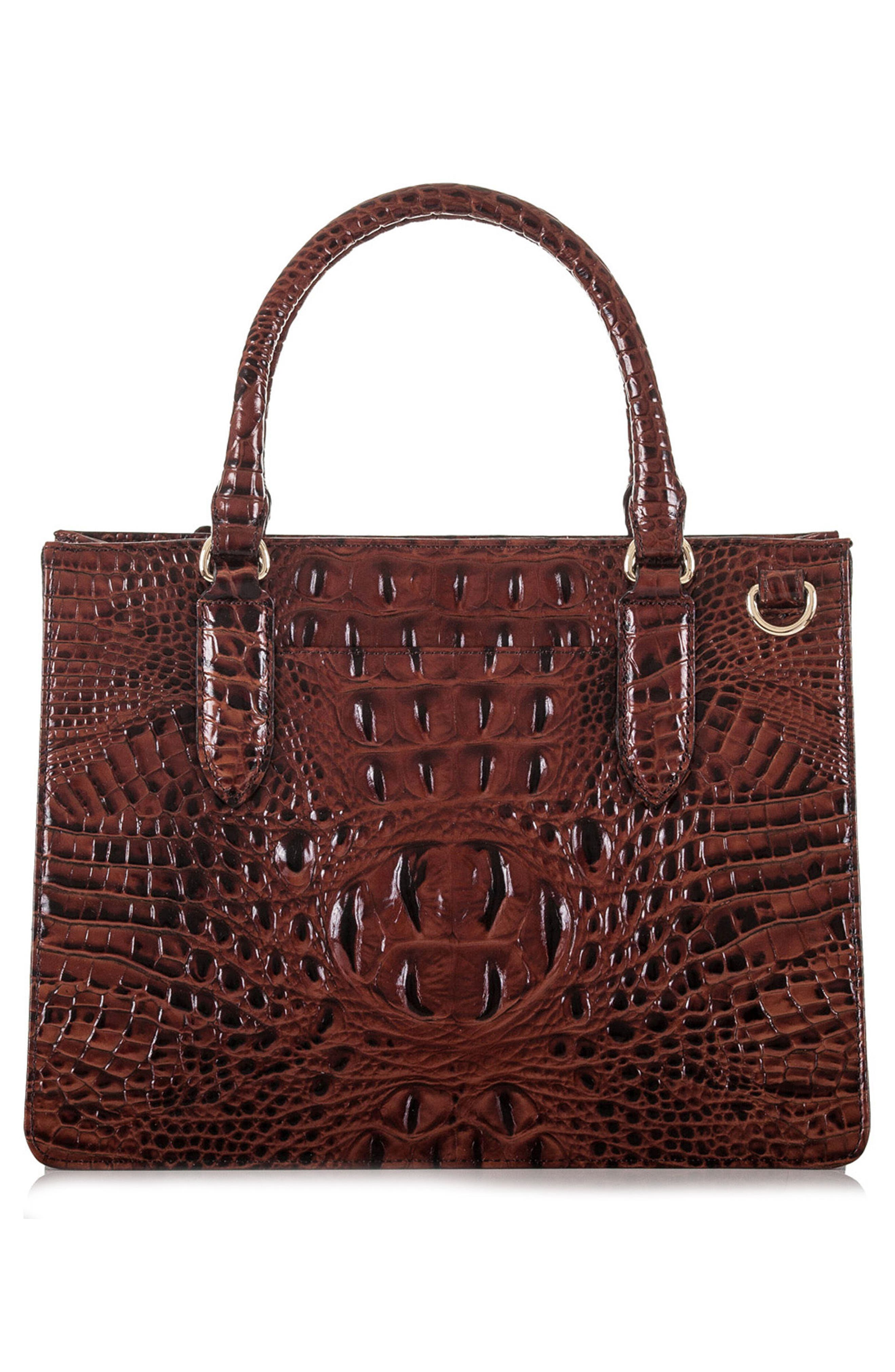 Alternate Image 2  - Brahmin Small Camille Embossed Leather Satchel