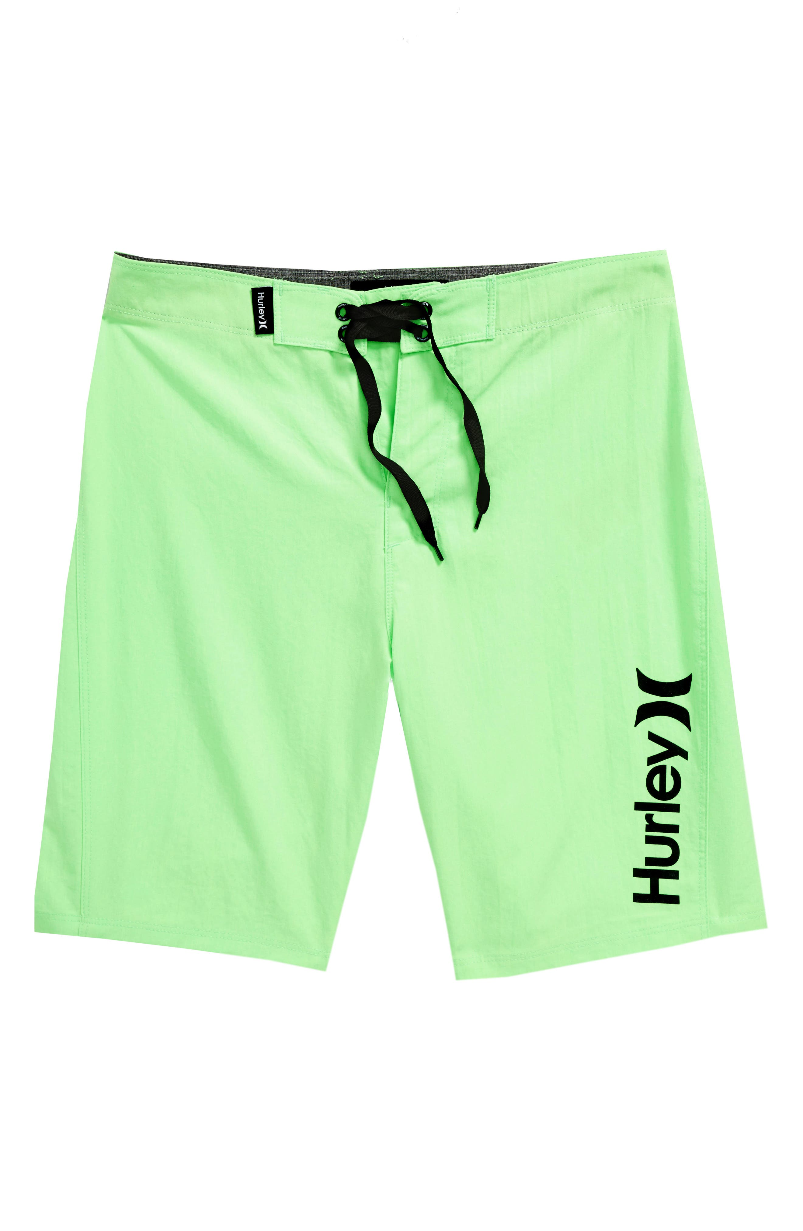 One and Only Dri-FIT Board Shorts,                             Main thumbnail 1, color,                             Neon Green Heather
