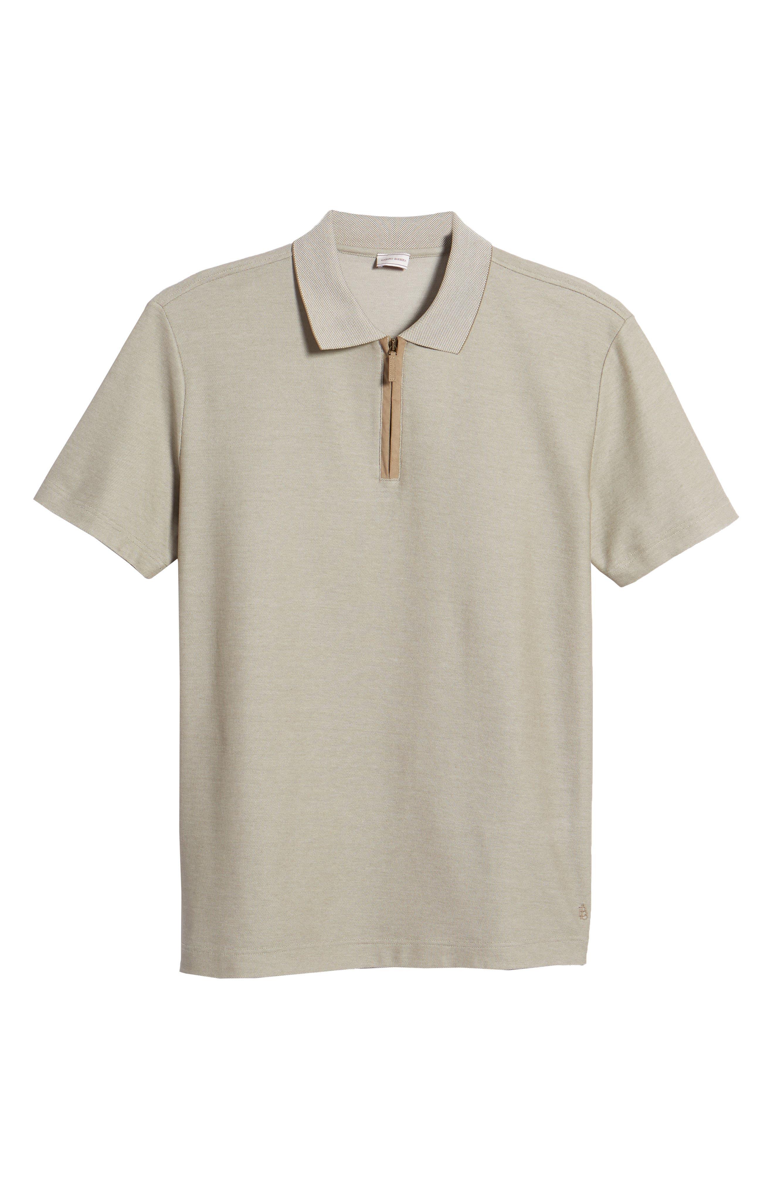 Cotton Polo Shirt,                             Alternate thumbnail 6, color,                             Tan