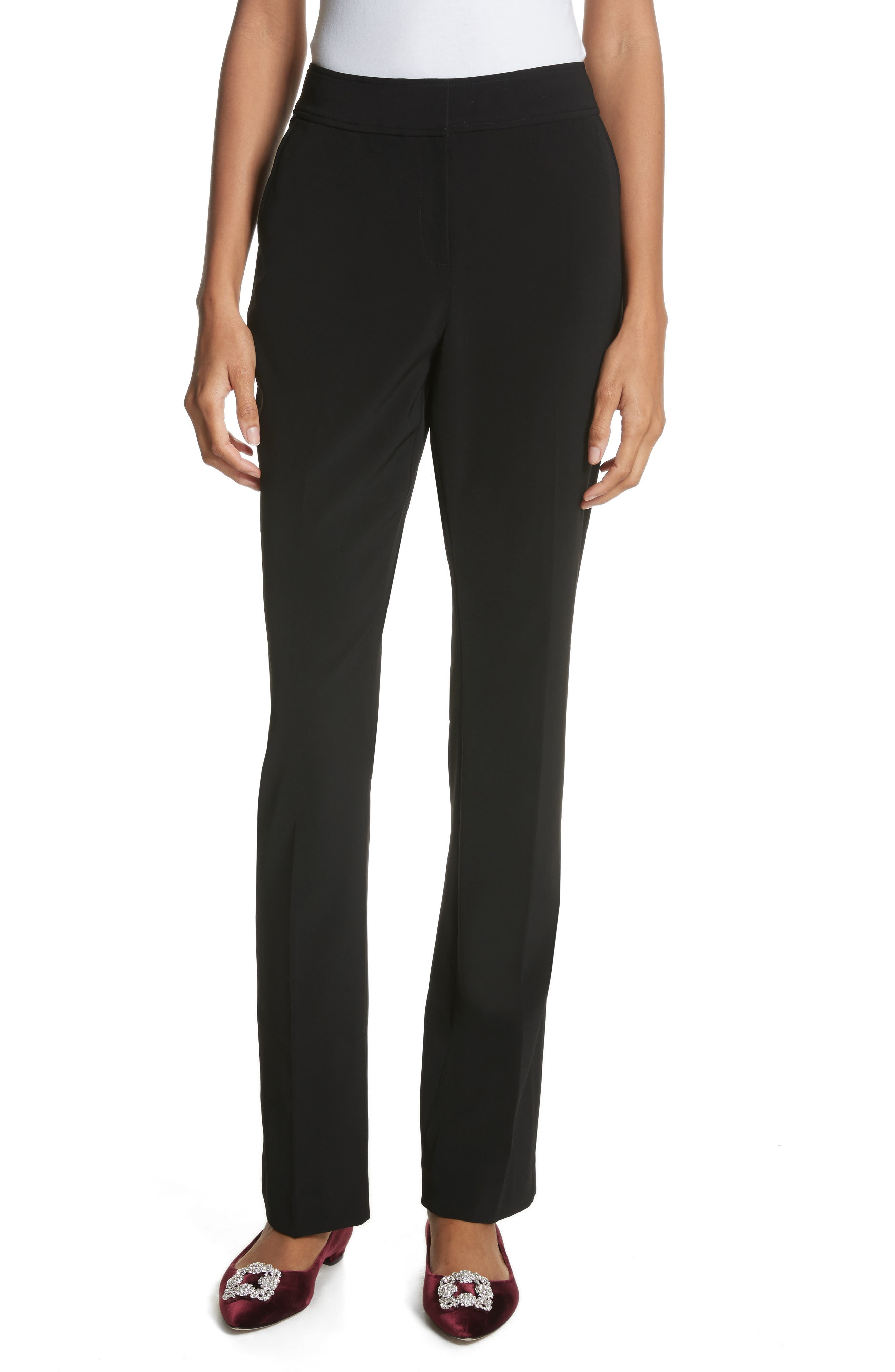 Yulit High Waist Trousers,                             Main thumbnail 1, color,                             Black