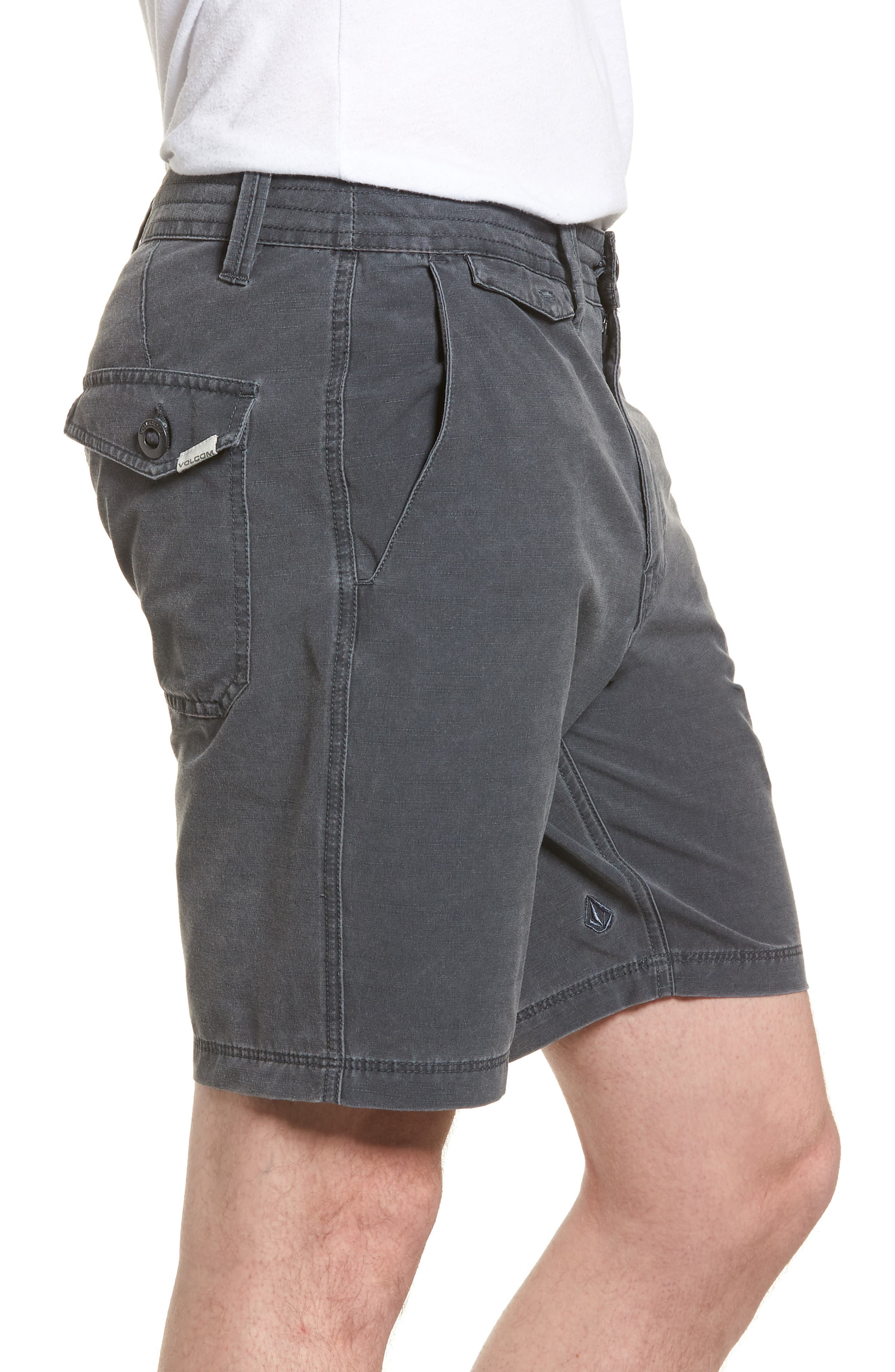 Surf N' Turf Hybrid Shorts,                             Alternate thumbnail 3, color,                             Grey Metal