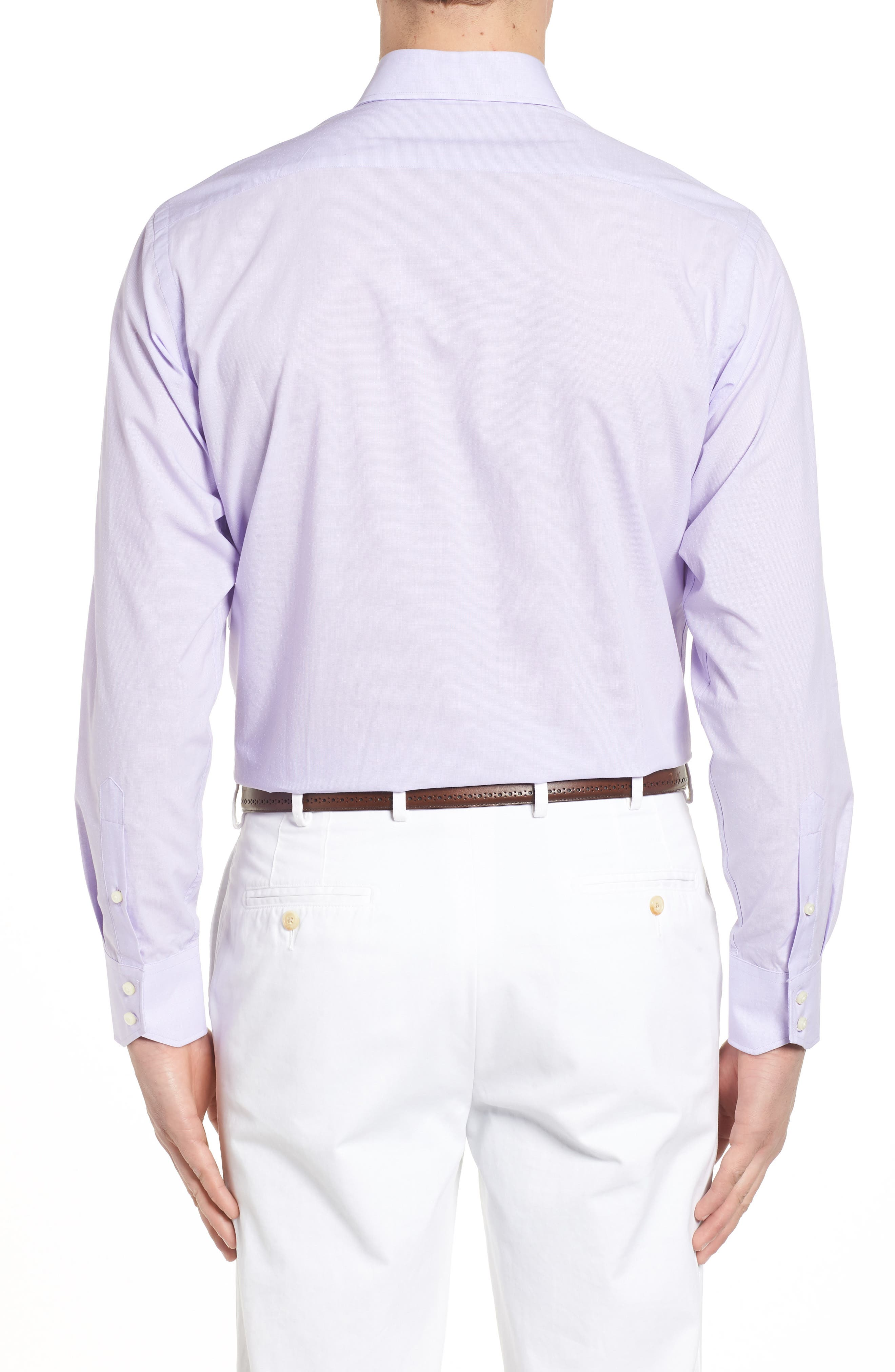 Large Check Sport Shirt,                             Alternate thumbnail 2, color,                             Purple